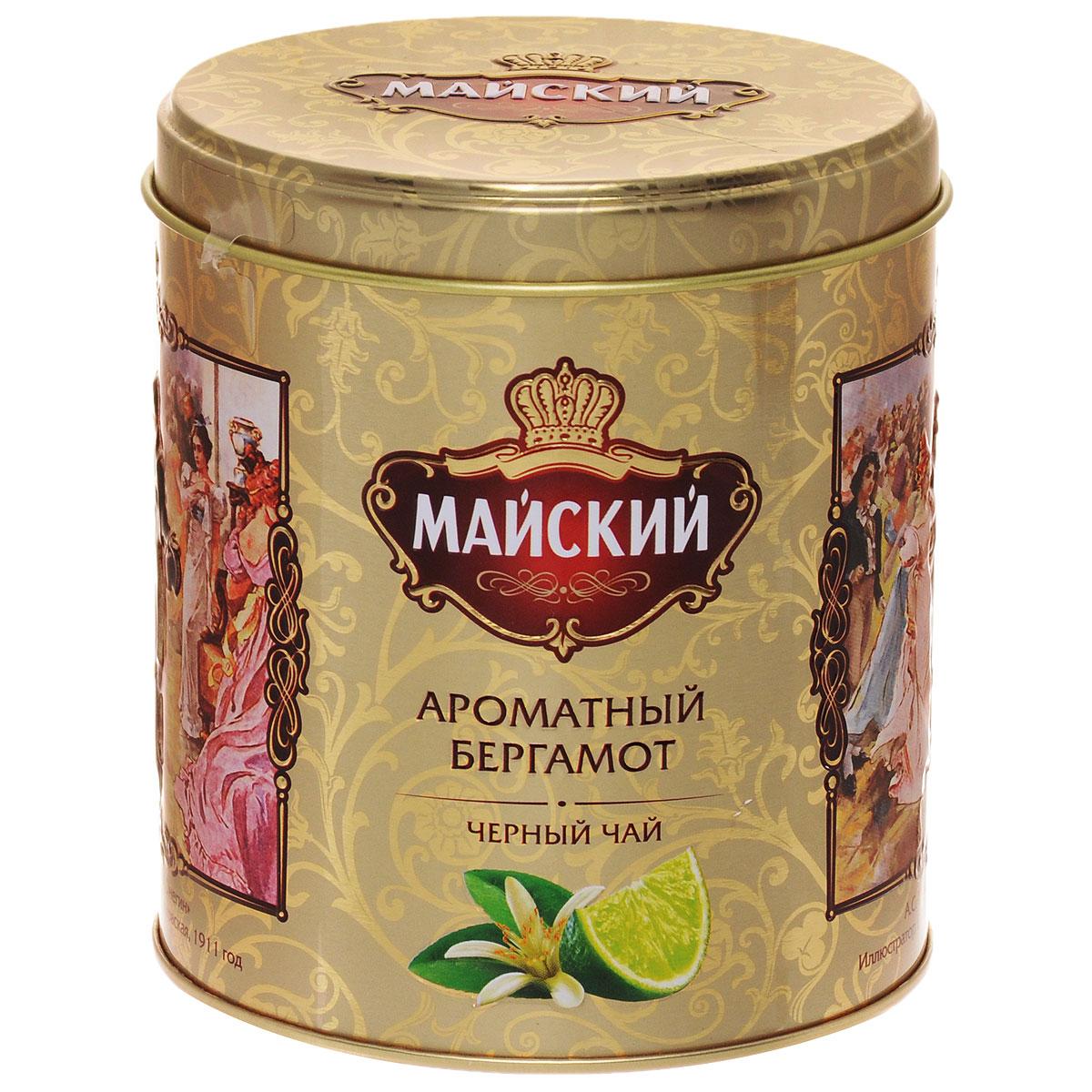 Майский Ароматный Бергамот черный ароматизированный листовой чай, 90 г114201Майский Ароматный Бергамот - это уникальный и изысканный вкус черного чая со свежими цитрусовыми нотками.