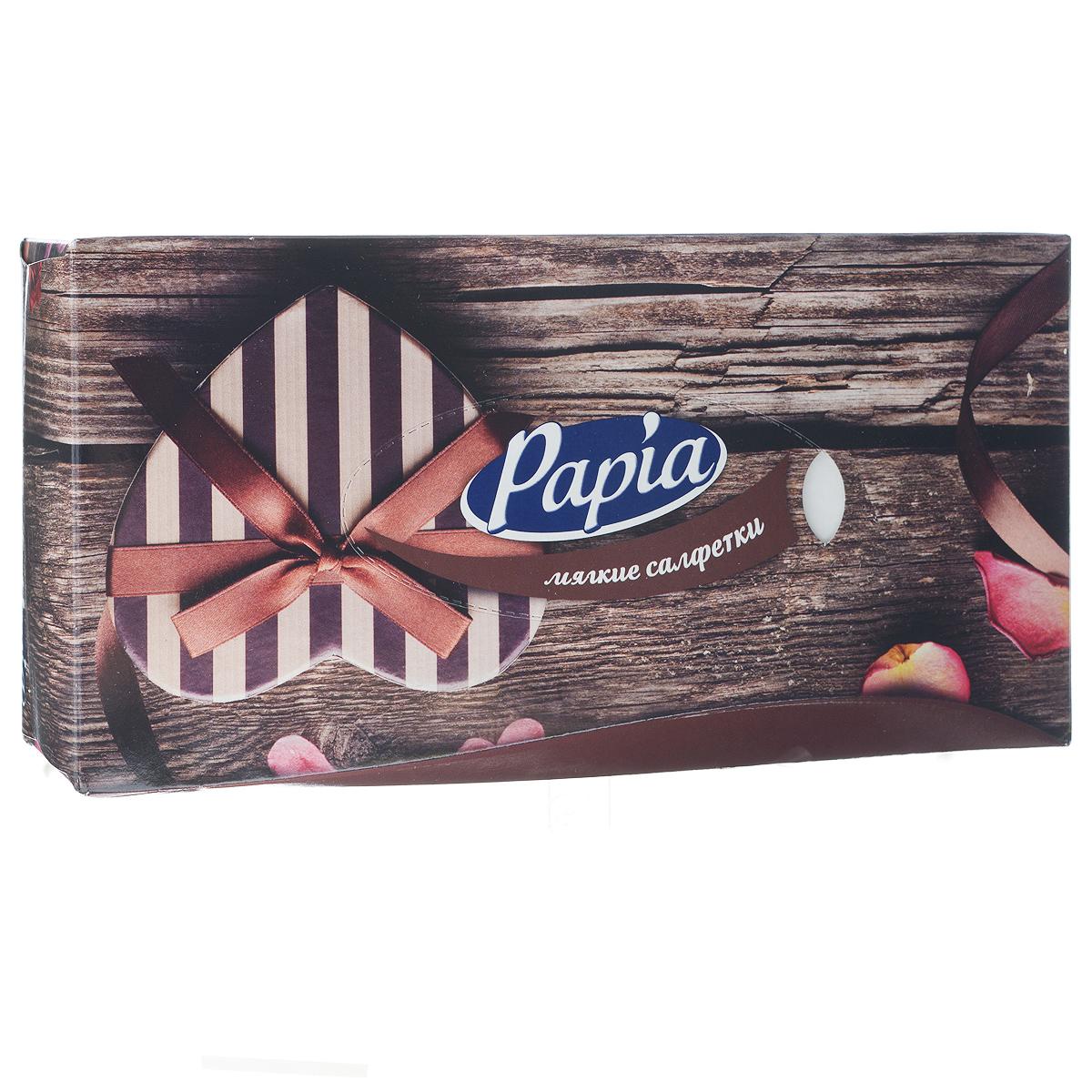 Салфетки бумажные Papia. Love, трехслойные, 21 x 21 см, 80 шт787502Трехслойные салфетки Papia. Love выполнены из 100% целлюлозы. Салфетки подходят для косметического, санитарно-гигиенического и хозяйственного назначения. Нежные и мягкие, они удивят вас не только своим высоким качеством, но и внешним видом. Изделия упакованы в коробку, поэтому их удобно использовать дома или взять с собой в офис или машину. Размер салфеток: 21 см х 21 см.