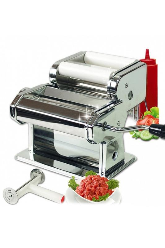 Машинка для приготовления равиоли и раскатывания теста для пасты BRADEX, TK 0094391602С помощью этого уникального прибора вы легко сможете приготовить в домашних условиях настоящие итальянские блюда, которые будут отличаться от покупных оригинальным вкусом и качеством. Машинка для приготовления равиоли и раскатывания теста для пасты поможет вам приготовить итальянские равиоли или русские пельмени, тесто для лапши, пасты и лазаньи. Насадка для равиоли запечатывает между двумя пластами теста любую начинку по вашему вкусу - вы можете приготовить мясные, овощные, фруктовые, сырные равиоли, не затрачивая на это много сил и времени. У машинки есть возможность регуляции толщины теста (минимальная толщина 0,2 мм).Комплектация:- прибор для раскатки теста; - прибор для формирования пельменей;- фиксатор для закрепления прибора на столе;- инструкция по применению.Материал: нержавеющая сталь, АБС-пластик.