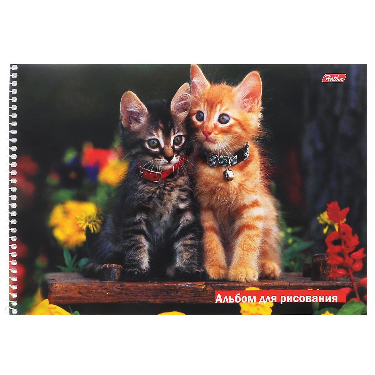 Hatber Альбом для рисования Зверье мое: Котята, 32 листа. 32А4Bсп_084232010440Альбом для рисования на боковой спирали Hatber Зверье мое: Котята непременно порадует маленького художника и вдохновит его на творчество.Альбом изготовлен из белоснежной офсетной бумаги с яркой обложкой из мелованного картона, оформленной изображением двух очаровательных котят. Внутренний блок альбома состоит из 32 листов бумаги, которые снабжены микроперфорацией и являются отрывными.Высокое качество бумаги позволяет рисовать в альбоме карандашами, фломастерами, акварельными и гуашевыми красками.Рекомендуемый возраст: 0+.