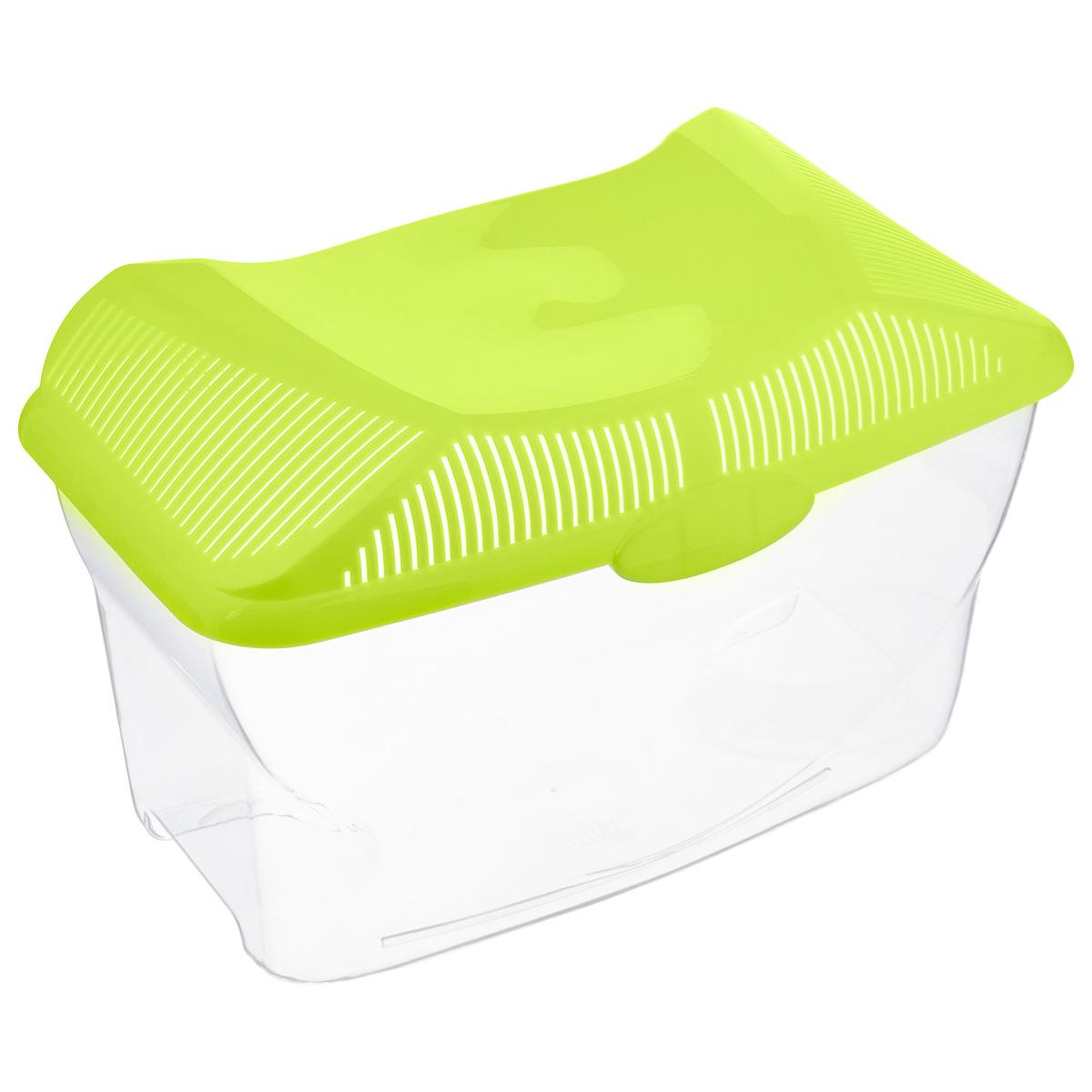 Аквариум-террариум Savic  Aqua Smile , цвет: прозрачный, салатовый, 9 л