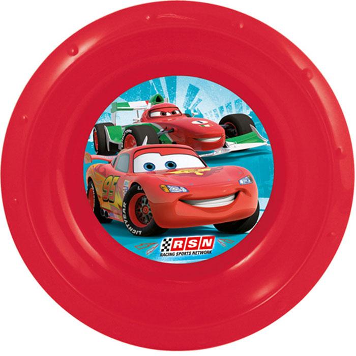 Disney Миска детская Cars, цвет: красный, диаметр 16 см52407Яркая тарелочка Cars идеально подойдет для кормления малыша и самостоятельного приема им пищи. Тарелка выполнена из безопасного полипропилена красного цвета, дно оформлено изображением героев из мультфильма Тачки. Тарелочка, оформленная веселой картинкой из мультфильма Тачки, понравятся и малышу, и родителям!
