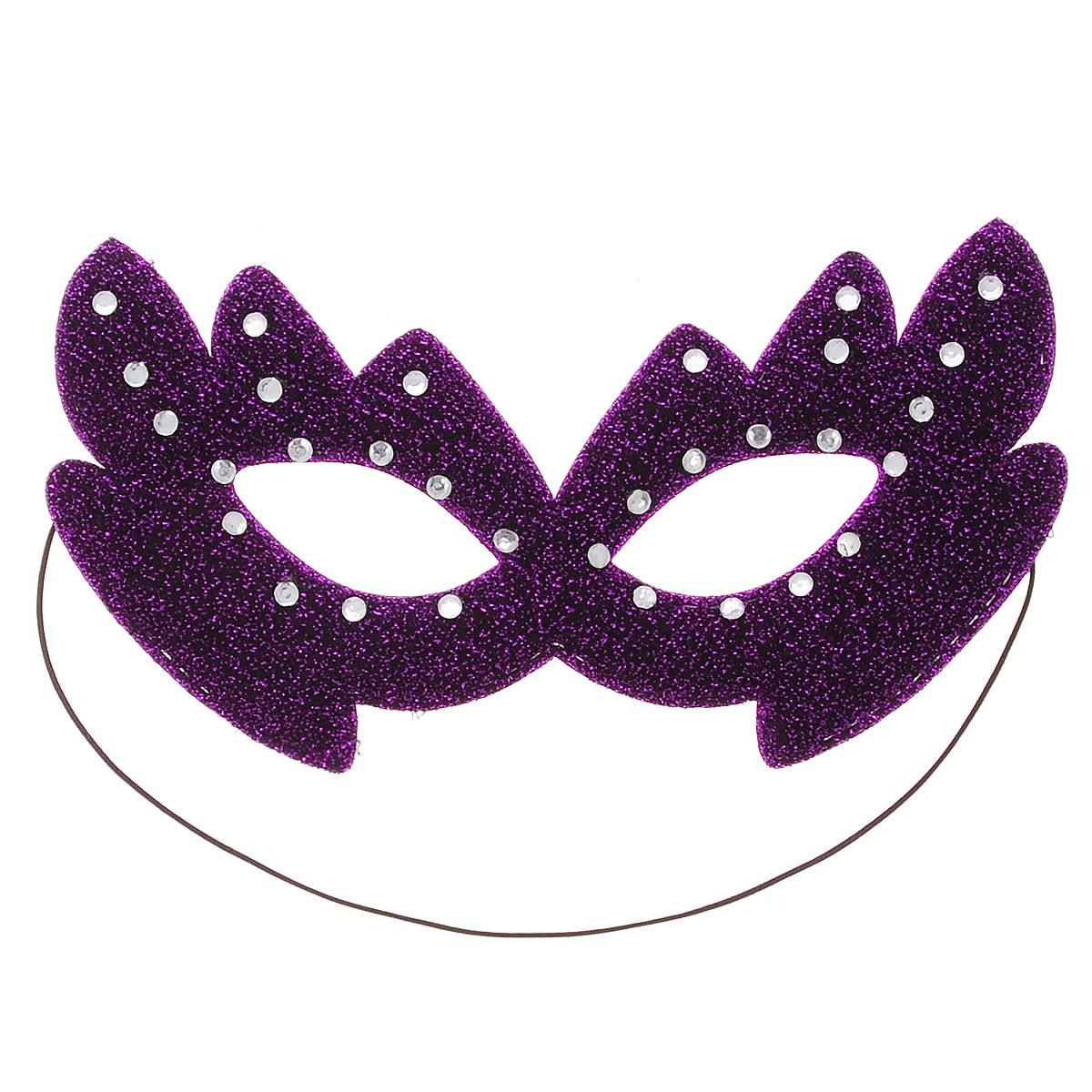 """Карнавальная маска """"Шампания"""" из мягкого материала, украшенная блестками и стразами, внесет нотку задора и веселья в праздник. Маска станет завершающим штрихом в создании праздничного образа. Карнавальная маска держится при помощи резинки. В этой роскошной маске вы будете неотразимы!"""