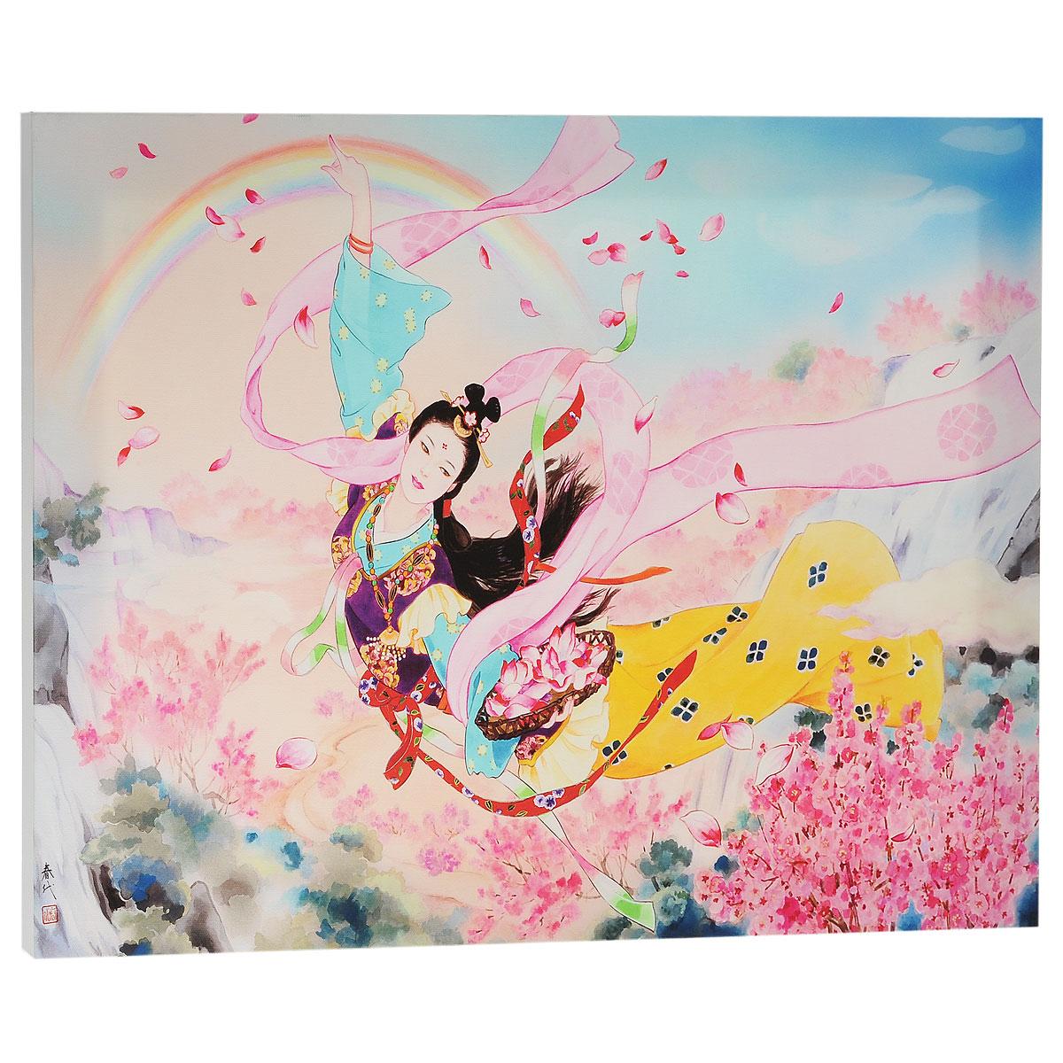 КвикДекор Картина на холсте Tennyo, 60 см х 40 см4607161056912Картина на холсте КвикДекор Tennyo - это прекрасное украшение для вашей гостиной или спальни. Она привнесет в интерьер яркий акцент и сделает обстановку комфортной и уютной. Харие Морита родилась в Японии в 1945 году. Свой талант художника она проявила еще в раннем детстве. Обучение традиционной японской живописи и победы на выставках определили ее будущее художника. После обучения Харие работала дизайнером кимоно, это и сегодня находит отражение в ее картинах. В 1972 году она становится независимым художником со своим неповторимым стилем. С тех пор выставки с ее участием встречают с интересом по всему миру. Картины Харие Морита- это прекрасный мир фантазий об идиллических японских красавицах в нереально красивых нарядах. Ее работы богаты деталями, в них столько цвета и жизнерадостности. Картина на холсте КвикДекор Tennyo не нуждается в рамке или багете - галерейная натяжка холста на подрамники выполнена очень аккуратно, а боковые части картины запечатаны продолжением картинки либо тоновой заливкой. На обратной стороне подрамника есть отверстие, благодаря которому картину можно легко закрепить на стене, и подкорректировать ее положение. Картина на холсте Tennyo художника Харие Морита станет отличным украшением для вашего интерьера!