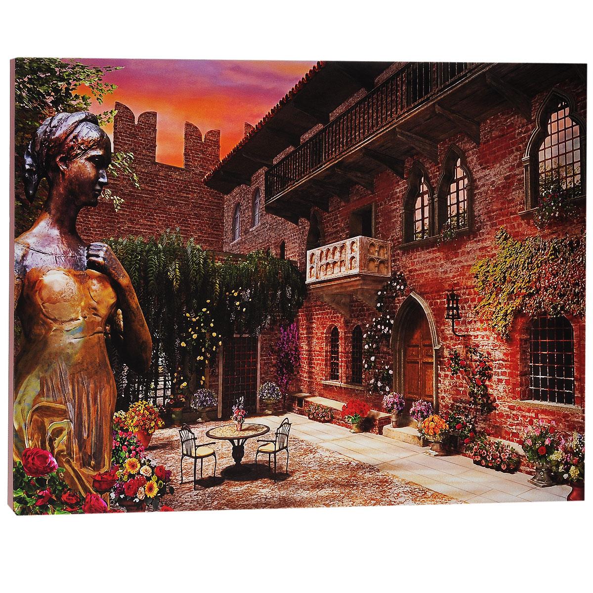 КвикДекор Картина на холсте Верона Джульетты, 60 см х 40 смБрелок для сумкиКартина на холсте КвикДекор Верона Джульетты - это прекрасное украшение для вашей гостиной или спальни. Она привнесет в интерьер яркий акцент и сделает обстановку комфортной и уютной. Доминик Дэвисон создает свои картины, используя компьютер и 3D-графику. Большое влияние на творчество Дэвисона оказал голландский пейзажист Баренд Корнелис Куккук, именно поэтому в его работах преобладают эстетические мотивы голландской романтической школы. Доминик создает изумительные картины коттеджей, сельских пейзажей и городов. Его работы красивы, выдержаны и обогащены множеством деталей. Работы Доминика опубликованы в журналах 3Д Художники и Фотошоп для продвинутых, также он ведет регулярную рубрику (колонку) в журнале 3Д Художники. Доминик - мастер Vue, программы, широко используемой в архитектуре, анимации, и являющейся важнейшим компонентом рабочего процесса для многих ведущих компаний и студий. Картина на холсте КвикДекор Верона Джульетты не нуждается в рамке или багете - галерейная натяжка холста на подрамники выполнена очень аккуратно, а боковые части картины запечатаны продолжением картинки либо тоновой заливкой. На обратной стороне подрамника есть отверстие, благодаря которому картину можно легко закрепить на стене, и подкорректировать ее положение. Картина на холсте Верона Джульетты художника Доминика Дэвисона станет отличным украшением для вашего интерьера!