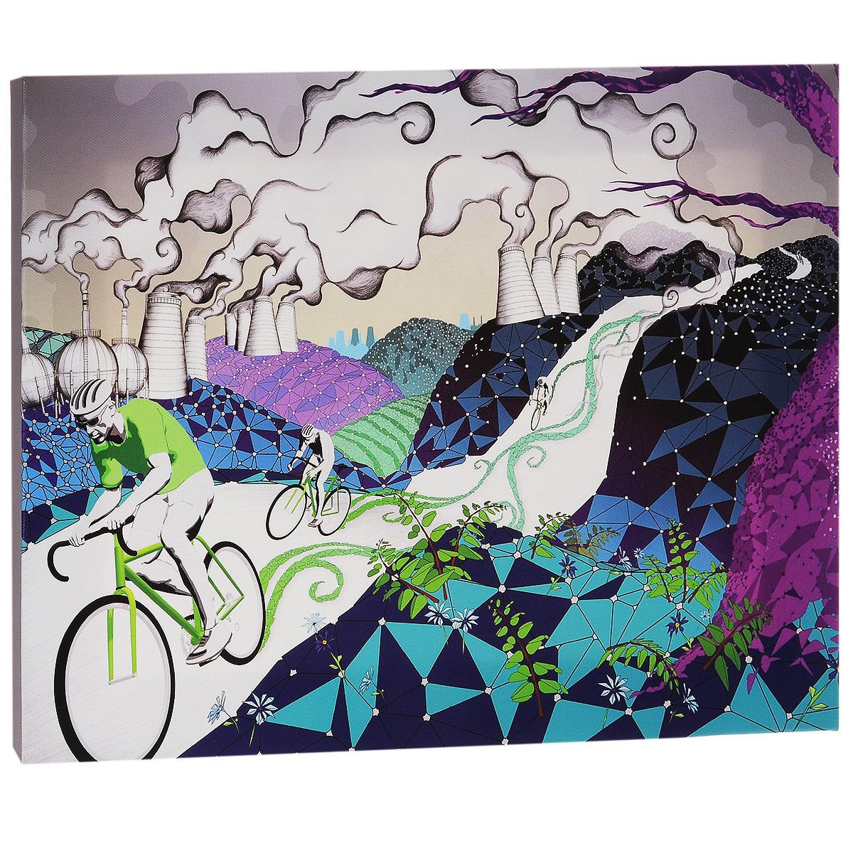 КвикДекор Картина на холсте Велосипеды, 40 см х 30 смKV10-007Картина на холсте КвикДекор Велосипеды - это прекрасное украшение для вашей гостиной или спальни. Она привнесет в интерьер яркий акцент и сделает обстановку комфортной и уютной. A.k.A - лондонская студия-бутик, включающая в себя творческую группу художников, которые часто работают в тесном сотрудничестве друг с другом. Их работы были отмечены по всему миру для таких крупных компаний, как Dreamworks, Pepsi, Random House, Ford, Avia, Mazda, Future, TIME, Phillip Morris, Bacardi и многие другие. Студия A.k.A была даже номинирована на Оскар, как независимая студия анимации в Лондоне. Их работы создаются с помощью сочетания фотографий, 3D-моделирования, обработки в Photoshop, традиционного ретуширования, рисунка карандашом, векторной графики и пера и чернил. Этот уникальный и многоплановый стиль делает студию A.k.A выдающейся. Работы художников-дизайнеров студии сразу бросаются в глаза и мало кого оставляют равнодушными. Картина на холсте КвикДекор Велосипеды не нуждается в рамке или багете - галерейная натяжка холста на подрамники выполнена очень аккуратно, а боковые части картины запечатаны продолжением картинки либо тоновой заливкой. На обратной стороне подрамника есть отверстие, благодаря которому картину можно легко закрепить на стене, и подкорректировать ее положение. Картина на холсте Велосипеды дизайн-студии A.k.A станет отличным украшением для вашего интерьера!