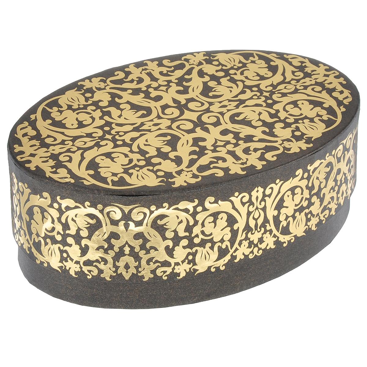 Коробка подарочная Карамель, 18 см х 12 см х 6 смC0042416Подарочная коробка Карамель изготовлена из плотного картона, оформленного красивым золотистым орнаментом. Прекрасно подходит в качестве подарочной упаковки для мелких предметов. Красивый дизайн привлекает внимание, кроме того, он универсальный, поэтому коробка подойдет в качестве подарочной упаковки как для женщин, так и для мужчин. Подарок, преподнесенный в оригинальной упаковке, всегда будет самым эффектным и запоминающимся. Окружите близких людей вниманием и заботой, вручив презент в нарядном, праздничном оформлении.