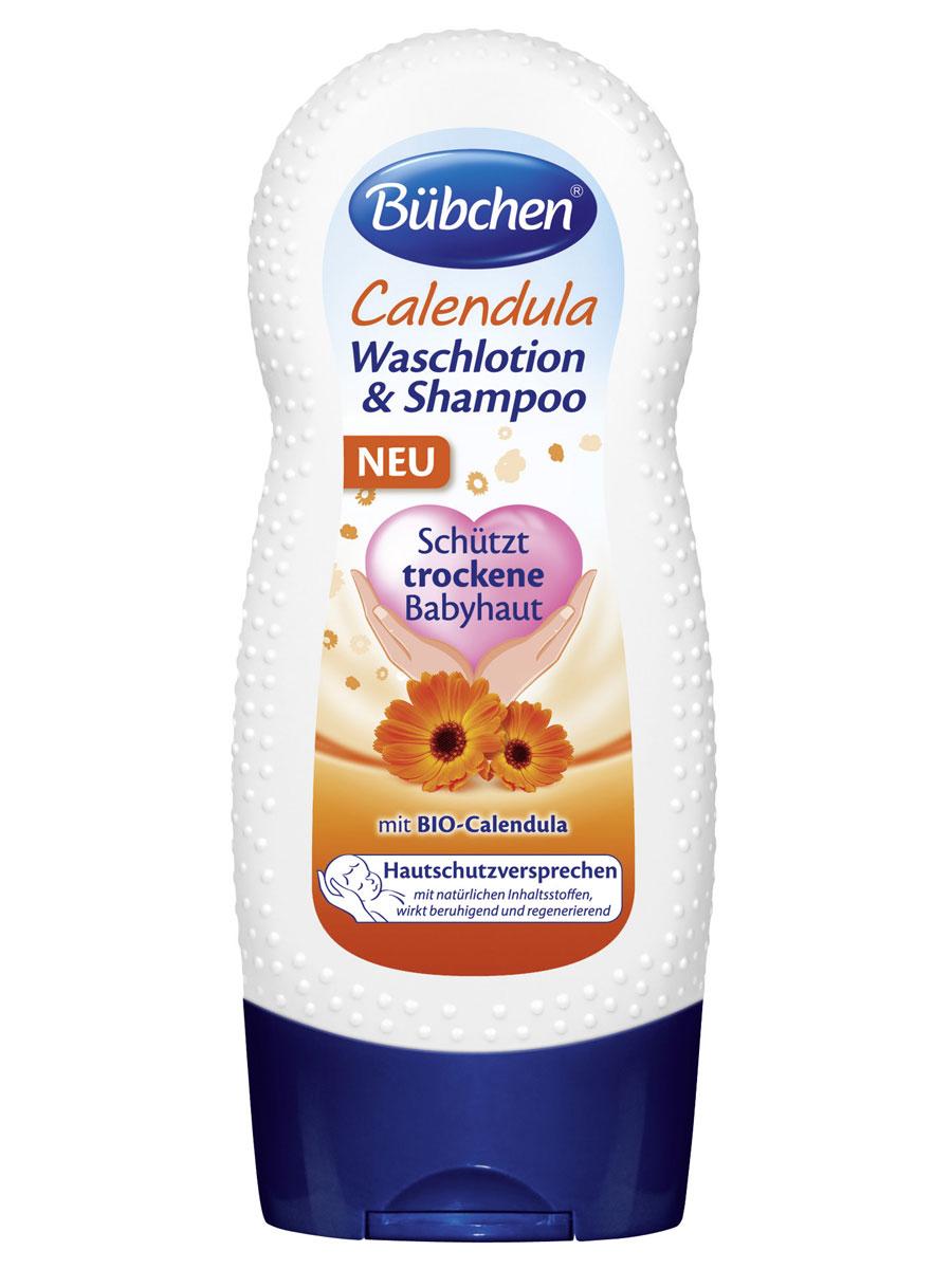 """Крем-гель для мытья волос и тела """"Календула"""" защищает чувствительную кожу младенцев. Содержит БИО-календулу. Натуральные ингредиенты оказывают на кожу успокаивающее и регенерирующее действие. Мягко очищает кожу, придает волосам блеск и облегчает расчесывание.Без красителей и способных вызвать аллергию ароматизаторов, рН нейтрально для кожи. Противопоказания: индивидуальная непереносимость компонентов.Рекомендуемый возраст: от 0 месяцев."""