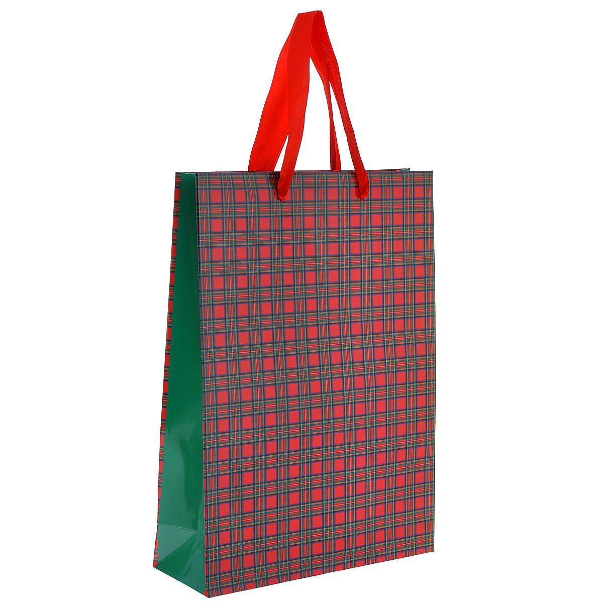 Пакет подарочный Шотландка, 25 х 35 х 9 смSCB25002006Подарочный пакет Шотландка выполнен из плотной ламинированной бумаги. Оформлен принтом в виде классической шотландской клетки. Дно изделия укреплено плотным картоном, который позволяет сохранить форму пакета и исключает возможность деформации дна под тяжестью подарка. Для удобной переноски на пакете имеются две атласные ручки.Подарок, преподнесенный в оригинальной упаковке, всегда будет самым эффектным и запоминающимся. Окружите близких людей вниманием и заботой, вручив презент в нарядном, праздничном оформлении.
