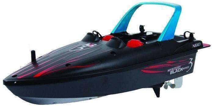 Nikko Mystery Black 3 1:30 300051G - это замечательная игрушка для любого водоема, которая очень проста в управлении и никого не оставит равнодушным. Ваш ребенок будет в восторге от такого катера. Корпус изготовлен из сверхлегких высокотехнологичных материалов.