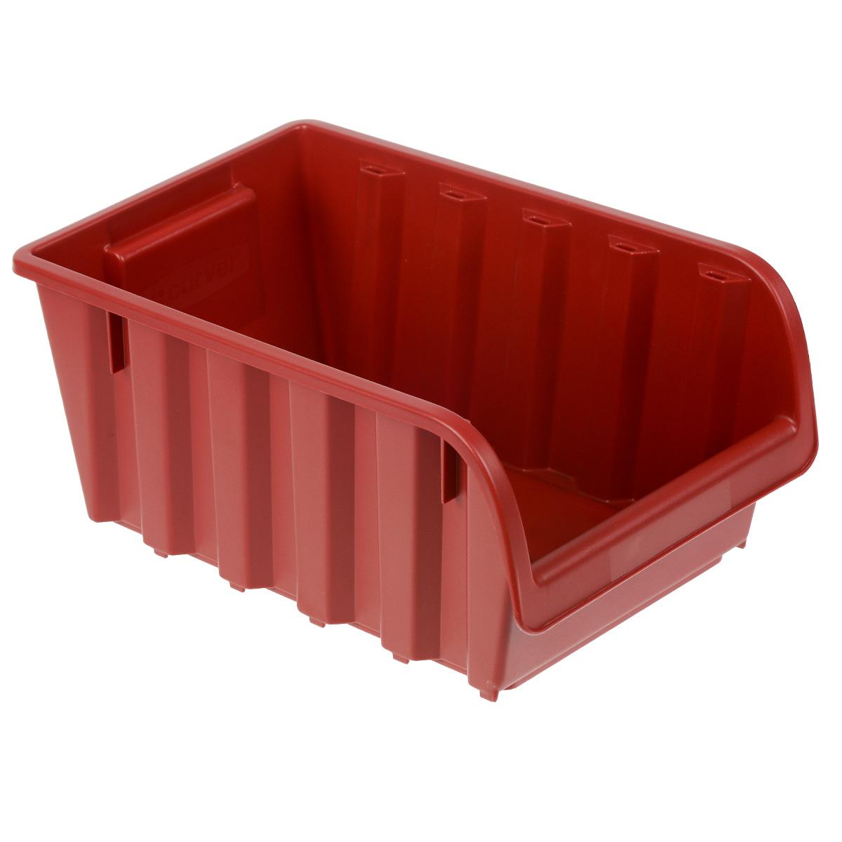 Емкость складская Curver Profi №5, цвет: красный, 34 х 20 х 15,5 см1004900000360Емкость Curver Profi №5 выполнена из высококачественного пластика и предназначена для хранения инструментов и различных складских мелочей, таких как гвозди, болты, гайки. Удобная конструкция изделия позволяет без труда достать из емкости нужную вещь. Емкость Curver Profi №5 будет незаменимой дома, на даче или в гараже.