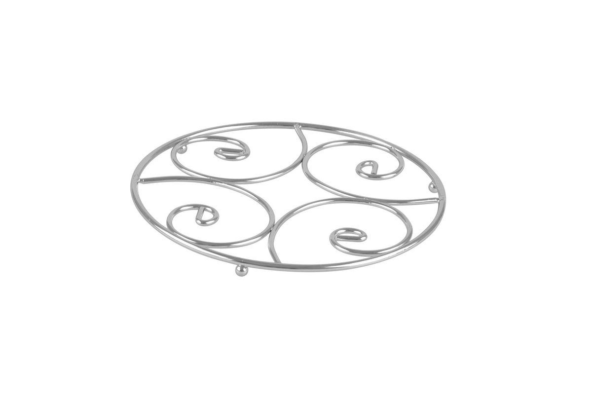 Подставка под горячее Bekker, диаметр 20 см21395599Круглая подставка под горячее Bekker изготовлена из высококачественной нержавеющей стали. Рабочая часть имеет оригинальный дизайн. Изделие предназначено для защиты поверхности стола от высоких температур.