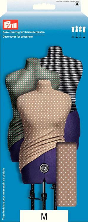 Чехол для манекена Prym Точки, цвет: бежевый, белый. Размер МSUMDEX PON-418 BKДекоративный чехол для манекена Prym Точки изготовлен из 100% полиэстера с принтом в горошек. Ткань гладкая, эластичная, приятная на ощупь. Чехол защитит ваш манекен от загрязнений и затяжек. Путем подкладывания под чехол дополнительного объема, вы можете скорректировать фигуру манекена. Может использоваться для любых манекенов соответствующего размера.