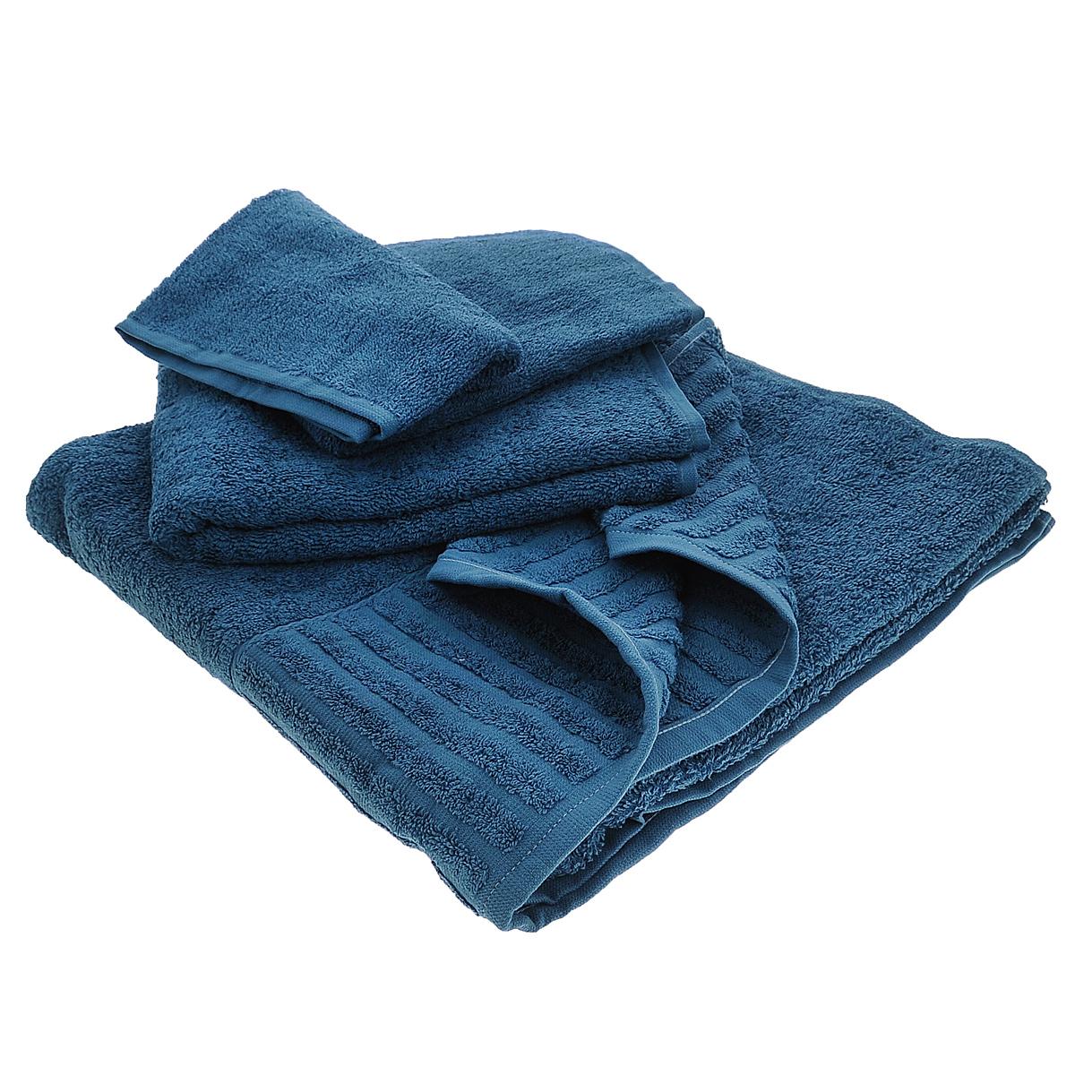 Набор махровых полотенец Bonita, цвет: черничный, 3 шт68/5/1Набор Bonita состоит из трех полотенец разного размера, выполненных из натурального хлопка. Такие полотенца отлично впитывают влагу, быстро сохнут, сохраняют яркость цвета и не теряют формы даже после многократных стирок. Полотенца очень практичны и неприхотливы в уходе. Размер полотенец: 40 см х 70 см; 50 см х 90 см; 70 см х 140 см.