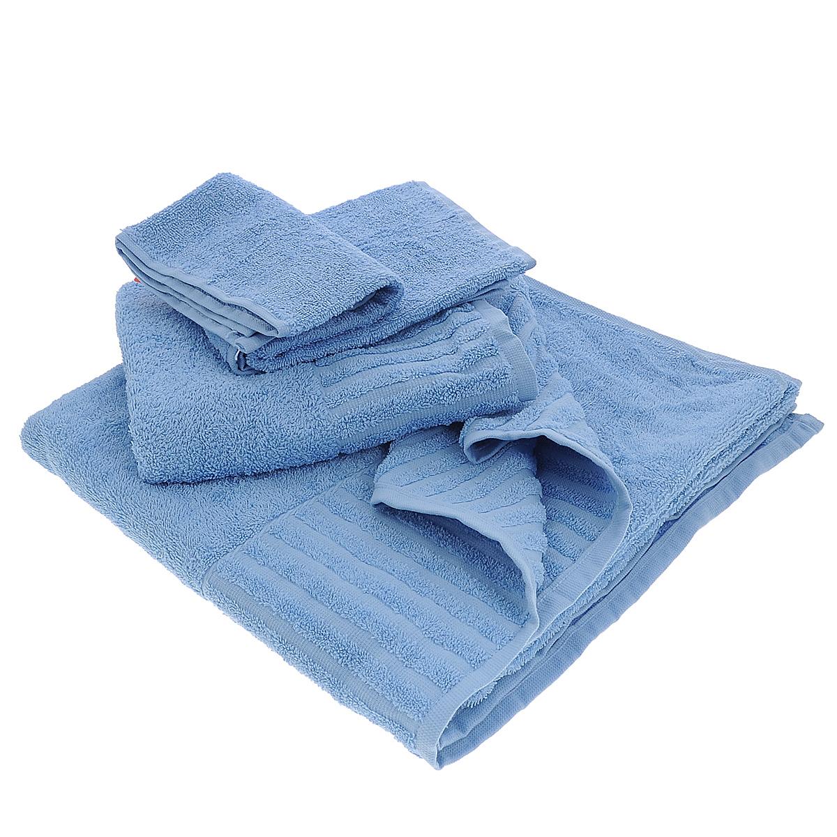 Набор махровых полотенец Bonita, цвет: голубой, 3 штS03301004Набор Bonita состоит из трех полотенец разного размера, выполненных из натурального хлопка. Такие полотенца отлично впитывают влагу, быстро сохнут, сохраняют яркость цвета и не теряют формы даже после многократных стирок. Полотенца очень практичны и неприхотливы в уходе. Размер полотенец: 40 см х 70 см; 50 см х 90 см; 70 см х 140 см.