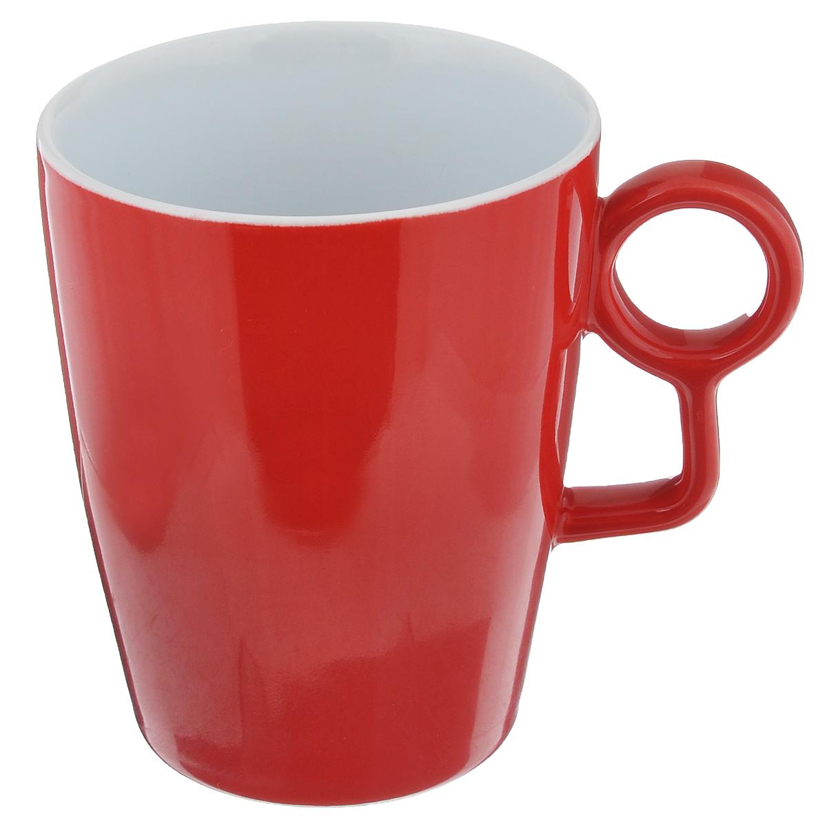 Кружка Sagaform Loop, цвет: красный, 250 мл54 009312Кружка Sagaform Loop выполнена из высококачественной керамики. Изделие оснащено удобной ручкой. Кружка сочетает в себе оригинальный дизайн и функциональность. Благодаря такой кружке пить напитки будет еще вкуснее. Кружка Sagaform согреет вас долгими холодными вечерами. Можно использовать в посудомоечной машине.Объем: 250 мл.Диаметр (по верхнему краю): 8 см.Высота кружки: 10 см.