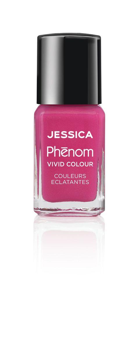 "Jessica Phenom Лак для ногтей Vivid Colour ""Barbie Pink"" № 20, 15 мл"