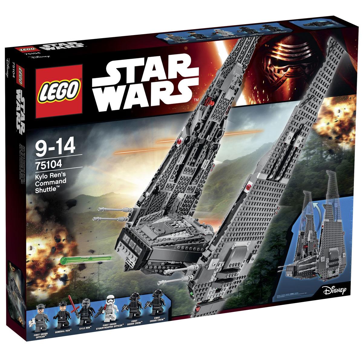 LEGO Star Wars Конструктор Командный шаттл Кайло Рена 75104 lego игрушка звездные войны командный шаттл кайло рена