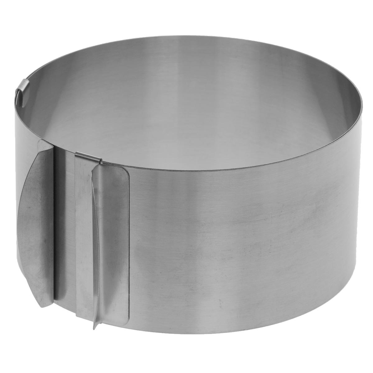 Форма для сборки тортов,салатов, закусок, десертов Cake Mould, раздвижная, диаметр 16-30 см94672Форма для сборки тортов, салатов, закусок, десертов Cake Mould выполнена из высококачественной нержавеющей стали. Отличительной особенностью данной формы является раздвижная конструкция, благодаря которой форма может изменять диаметр от 16 см до 30 см. На внутренней стенке имеется шкала с диаметрами.Такая форма станет незаменимым помощником на вашей кухне.Можно мыть в посудомоечной машине.Диаметр формы: 16-30 см. Высота стенок: 8,5 см. * Победитель номинации «Лучшая собственная торговая марка в сегменте ONLINE»Премия PRIVATE LABEL AWARDS (by IPLS) —международная премия в области собственных торговых марок, созданная компанией Reed Exhibitions в рамках выставки «Собственная Торговая Марка» (IPLS) 2016 с целью поощрения розничных сетей, а также производителей продовольственных и непродовольственных товаров за их вклад в развитие качественных товаров private label, которые способствуют росту уровня покупательского доверия в России и СНГ.