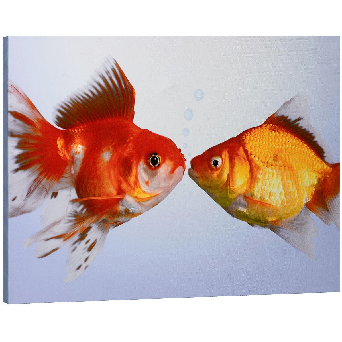 КвикДекор Картина на холсте  Поцелуй , 60 см х 40 см -  Детская комната