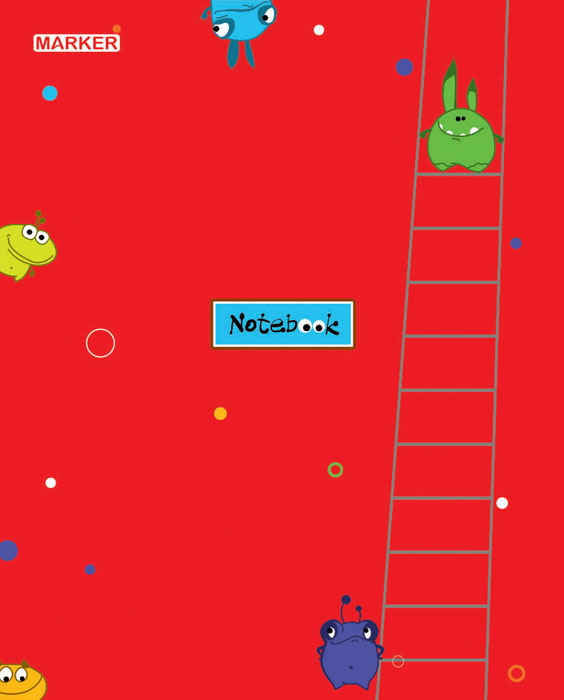 Marker Тетрадь Фаннималс 60 листов в клетку цвет красныйM-1050560N-2Тетрадь в клетку Marker Фаннималс подойдет для различных работ не только студенту и школьнику, но и для личных записей любому современному человеку.Обложка тетради выполнена из мелованного картона с оригинальным дизайнерским рисунком.Внутренний блок тетради состоит из 60 листов высококачественной бумаги повышенной белизны. Уникальная технологии крепления - прошивка шелковой нитью по сгибу изделия - это отдельный эффектный элемент дизайна и повышенные прочность и удобство в использовании. Закругленные углы надолго сохраняют отличный вид изделия.