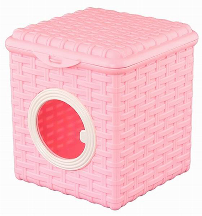 Контейнер для мелочей Violet, цвет: розовый, 16 см х 17 см х 18 смRG-D31SКонтейнер Violet изготовлен из прочного пластика и оформлен плетением под корзинку. Контейнер имеет прозрачное пластиковое окошко и откидную крышку, которая закрывается на защелку. Контейнер Violet идеально подойдет для хранения различных мелочей. Объем: 3 л.