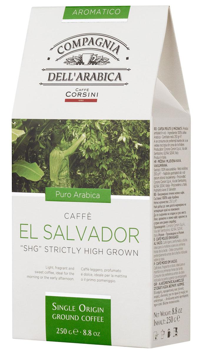 Compagnia DellArabica El Salvador молотый кофе, 250 г (вакуумная упаковка)4251499Кофе Compagnia DellArabica El Salvadorпроизрастает на высоте более 900 метров над уровнем моря. Сорт впитал в себя все могущество высокогорного шедевра Латинской Америки. Он обладает сладким мягким вкусом, насыщенным ароматами чередованиями послевкусий. Чтобы насладиться неповторимым вкусом молотого кофе от Compagnia DellArabica, вы можете приготовить его любым известным вам способом, даже просто залив кипятком в чашке!