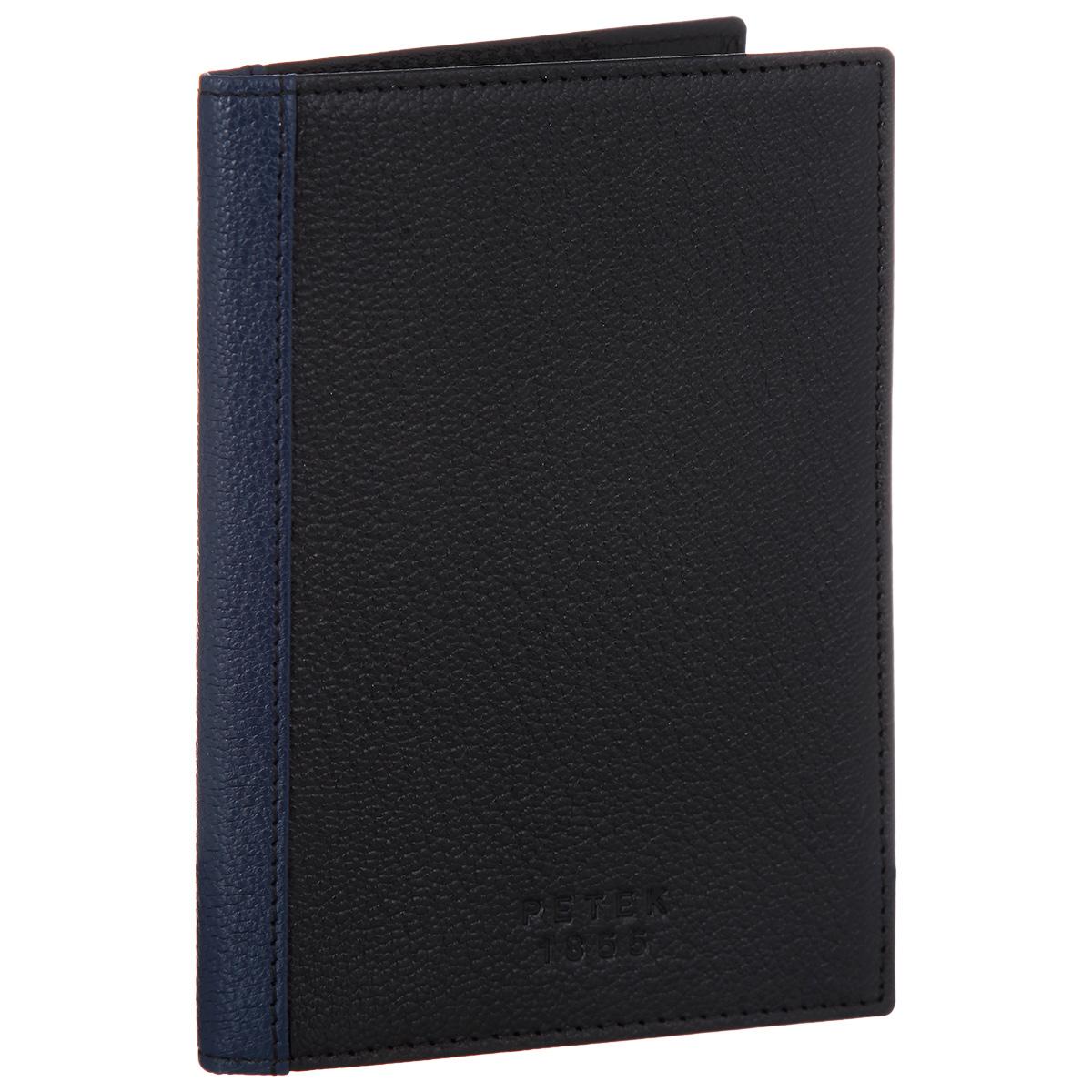 Обложка для паспорта Petek 1855, цвет: черный, темно-синий. S15005.ALS.C28S15005.ALS.C28 Black-N.BlueОбложка для паспорта из коллекции Petek1855 в комбинированной коже из двух цветов. Внутри имеется открытый кармашек для посадочного талона.