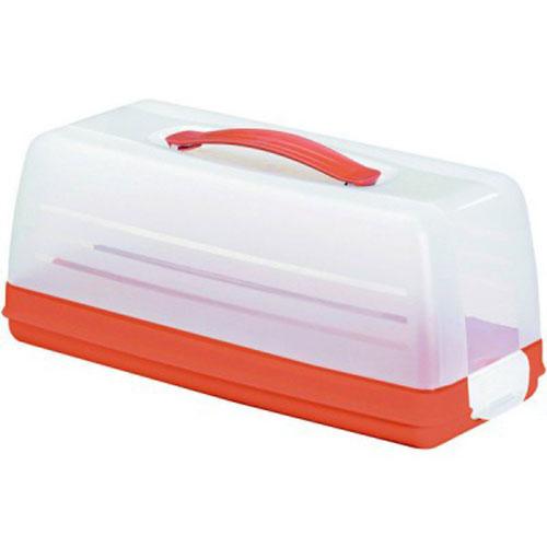 Емкость для торта Curver, цвет: прозрачный, оранжевый, 33 см х 15 см х 14 см115510Емкость для торта Curver изготовлена из высококачественного пищевого пластика. Изделие представляет собой прямоугольный поднос и прозрачную крышку, надежно закрывающуюся на 2 защелки. Крышка убережет выпечку от насекомых, заветривания, влаги и других воздействий внешней среды. Емкость снабжена удобной ручкой для переноски.Можно мыть в посудомоечной машине. Размер крышки: 33 см х 14,5 см х 12 см. Размер подноса (без учета крышки): 33 см х 15 см х 4 см.