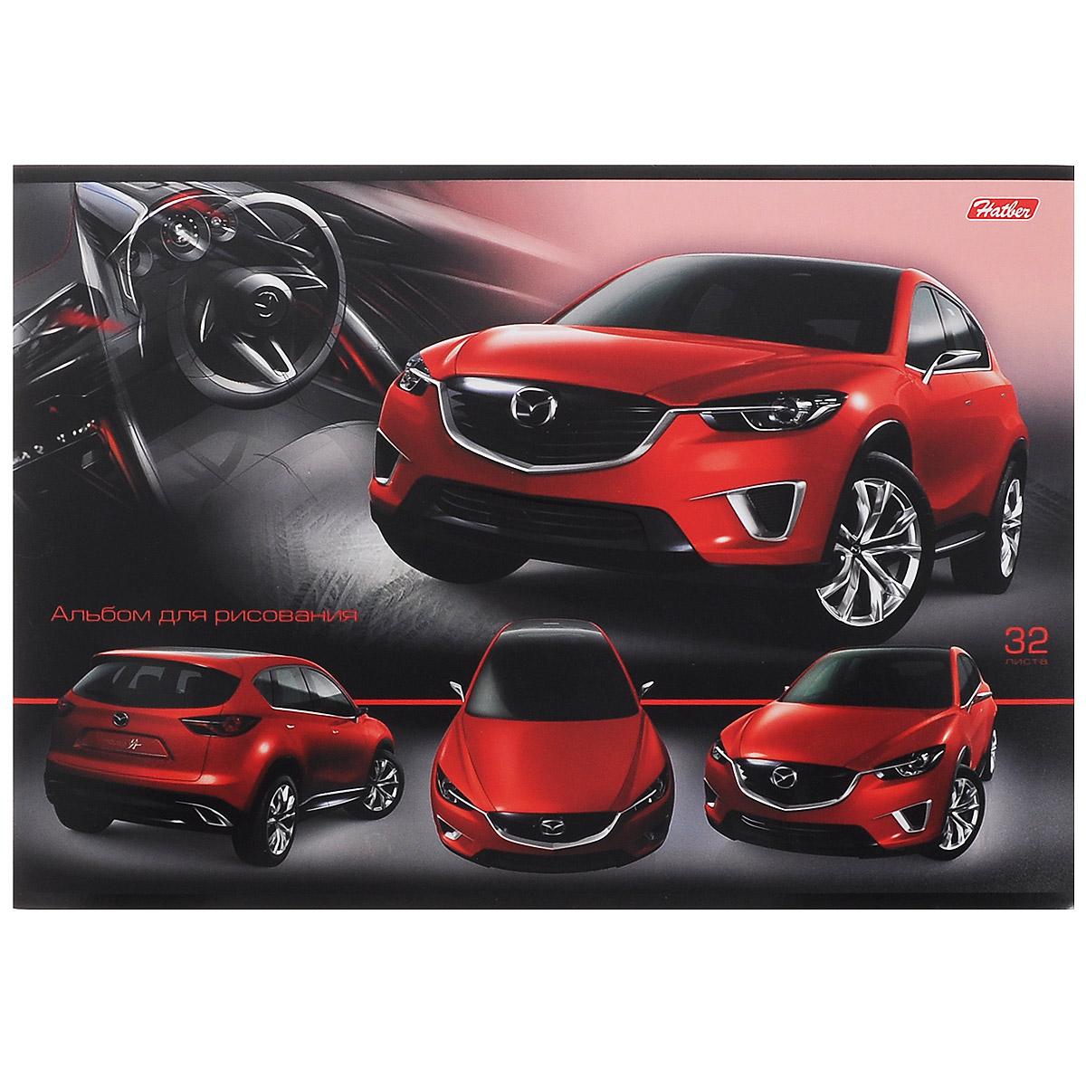 Hatber Альбом для рисования Авторевю: Mazda, 32 листа40А4B_12907Альбом для рисования Hatber Авторевю: Mazda выполнен из качественной бумаги и мелованного картона.Обложка альбома изготовлена из плотного картона с изображением красного автомобиля марки Mazda и покрыта матовым лаком. Внутренний блок альбома состоит из 32 листов белой бумаги, соединенной двумя металлическими скрепками.Рисуя, юный художник сможет реализовать свои творческие способности и воплотить на бумаге все свои образы, мысли и идеи.