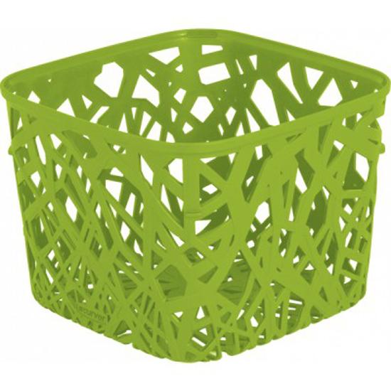 Корзинка Curver Ecolife, цвет: зеленый, 19,2 см х 19,2 см х 14,4 см25051 7_зеленыйКвадратная корзинка Curver Ecolife изготовлена из высококачественного пластика. Предназначена для хранения различных предметов в ванной, на кухне, на даче или в гараже. Стенки корзины оформлены изящной перфорацией, обеспечивающей естественную вентиляцию.