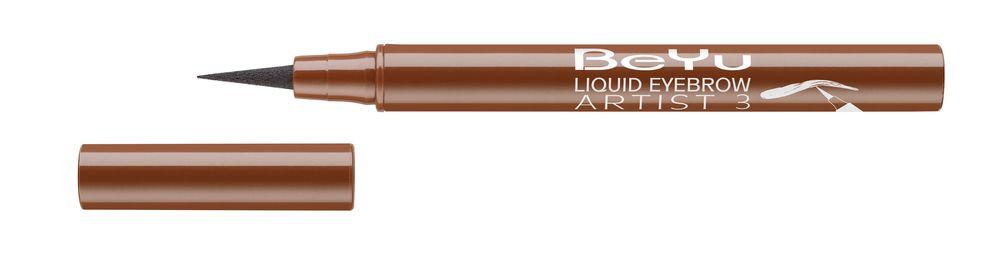 BeYu Фломастер для бровей Liquid Eyebrow Artist № 3 светло-коричневый, 1,2мл6Жидкий, устойчивый фломастер для бровей с тонким фетровым аппликатором. Точно и легко наносится, мгновенно заполняет линию брови. Устойчиво держится в течение дня.