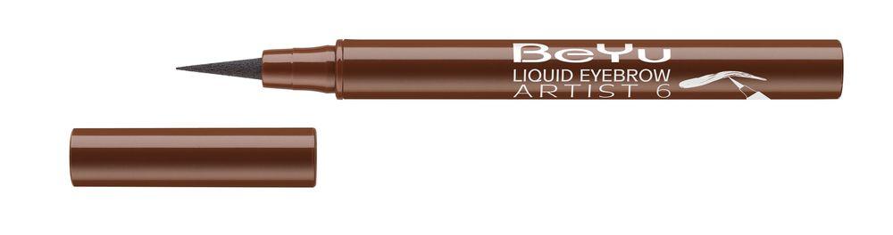 BeYu Фломастер для бровей Liquid Eyebrow Artist № 6 темно-коричневый , 1,2мл5010777139655Жидкий, устойчивый фломастер для бровей с тонким фетровым аппликатором. Точно и легко наносится, мгновенно заполняет линию брови. Устойчиво держится в течение дня.
