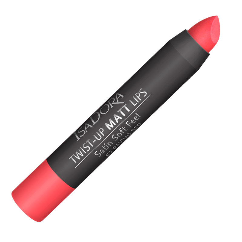 Isa Dora Помада-карандаш для губ матовая Twist-up Matt Lips № 62, 2,7гр28032022Помада для губ в карандаше TWIST UP MATT. Бархатистый матовый эффектКомфортная кремовая текстура не сушит губы и укрывает их насыщенным устойчивым цветом.Удобная форма стика для аккуратного нанесения и создания четкого контура губ.Формула, насыщенная увлажняющими и защитными ингредиентами.Без отдушек. Клинически тестировано