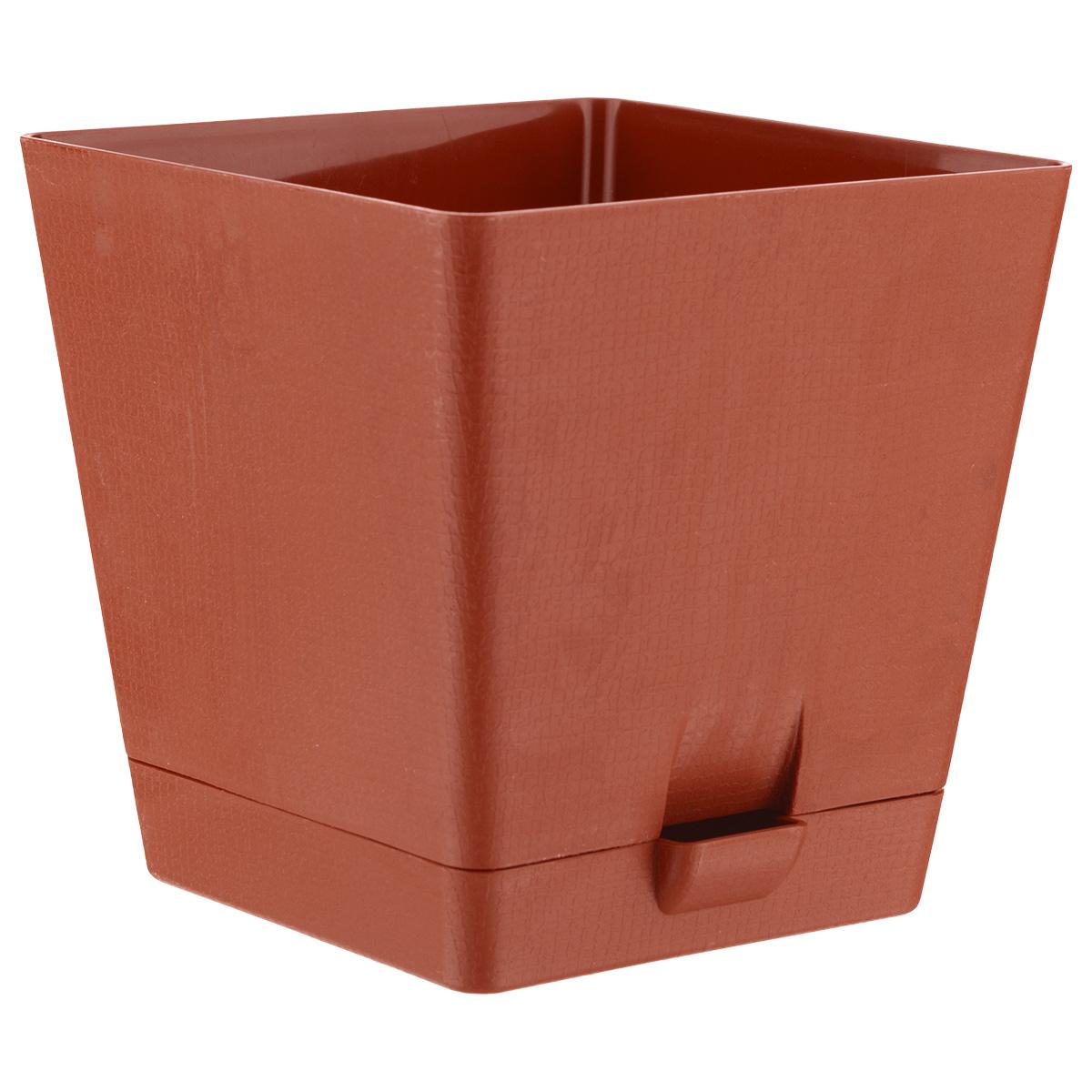 Горшок для цветов Le Parterre, с поддоном, цвет: терракотовый, 3 лZ-0307Горшок для цветов Le Parterre с системой прикорневого полива выполнен из полипропилена (пластика) и предназначен для выращивания в нем цветов, растений и трав. Система прикорневого полива способствует вентиляции и дренажу корневой системы растения. Такой горшок порадует вас современным дизайном и функциональностью, а также оригинально украсит интерьер помещения.