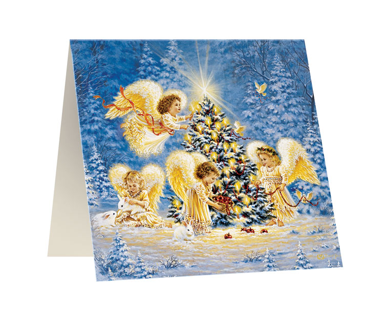 Открытка Правила Успеха Свет ангела, 10 х 10 см25051 7_зеленыйОткрытка Правила Успеха Свет ангела изготовлена из картона, изделие декорировано красочным изображением ангелов у рождественской ели. Такая открытка станет прекрасным дополнением к подарку и порадует получателя.