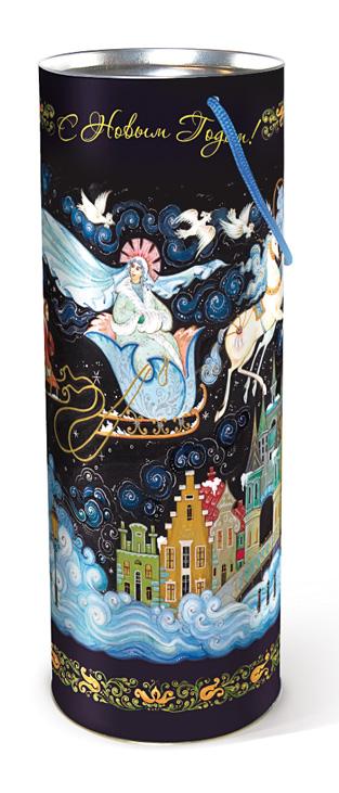 Туба подарочная Правила Успеха Снежная королева, диаметр 12 смRSP-202SПодарочная туба Правила Успеха Снежная королева выполнена из плотного картона и металла. Изделие оформлено художественной росписью в стиле палех. Туба оснащена крышкой и текстильной ручкой-шнурком. Подарочная туба - это оригинальное решение, если вы хотите порадовать близких людей и создать праздничное настроение, ведь подарок, преподнесенный в необычной упаковке, всегда будет самым эффектным и запоминающимся. Окружите близких людей вниманием и заботой, вручив презент в нарядном, праздничном оформлении.Высота тубы: 34,5 см.