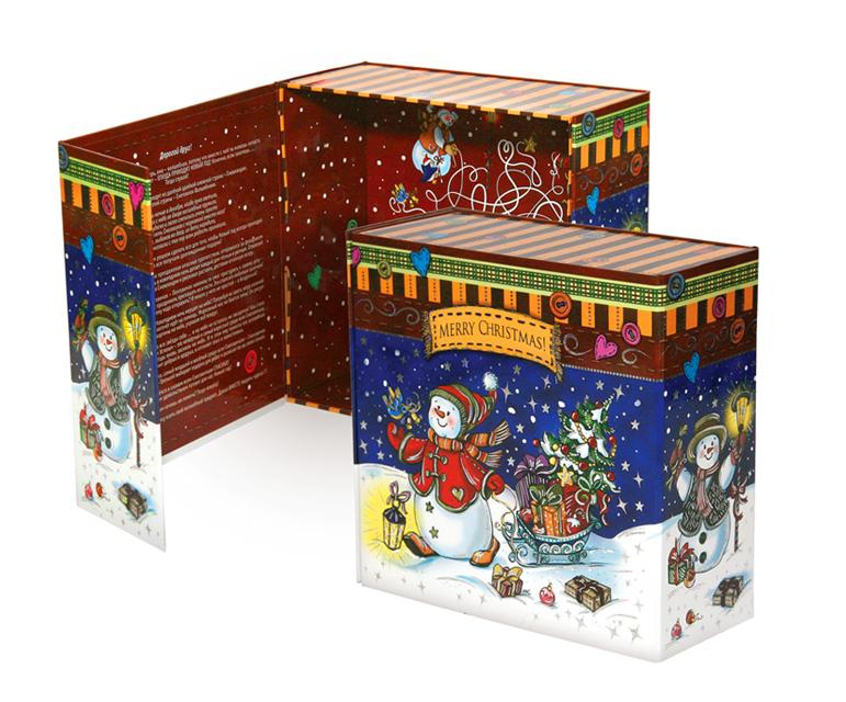 Коробка подарочная Правила Упеха Снеговички, раскладная, 20 х 20 х 9 смRSP-202SРаскладная подарочная коробка Правила Успеха изготовлена из плотного картона, украшенного изображением снеговика с подарками. Изделие прекрасно подойдет для конфет и различных небольших сувениров.Размер: 20 х 20 х 9 см.