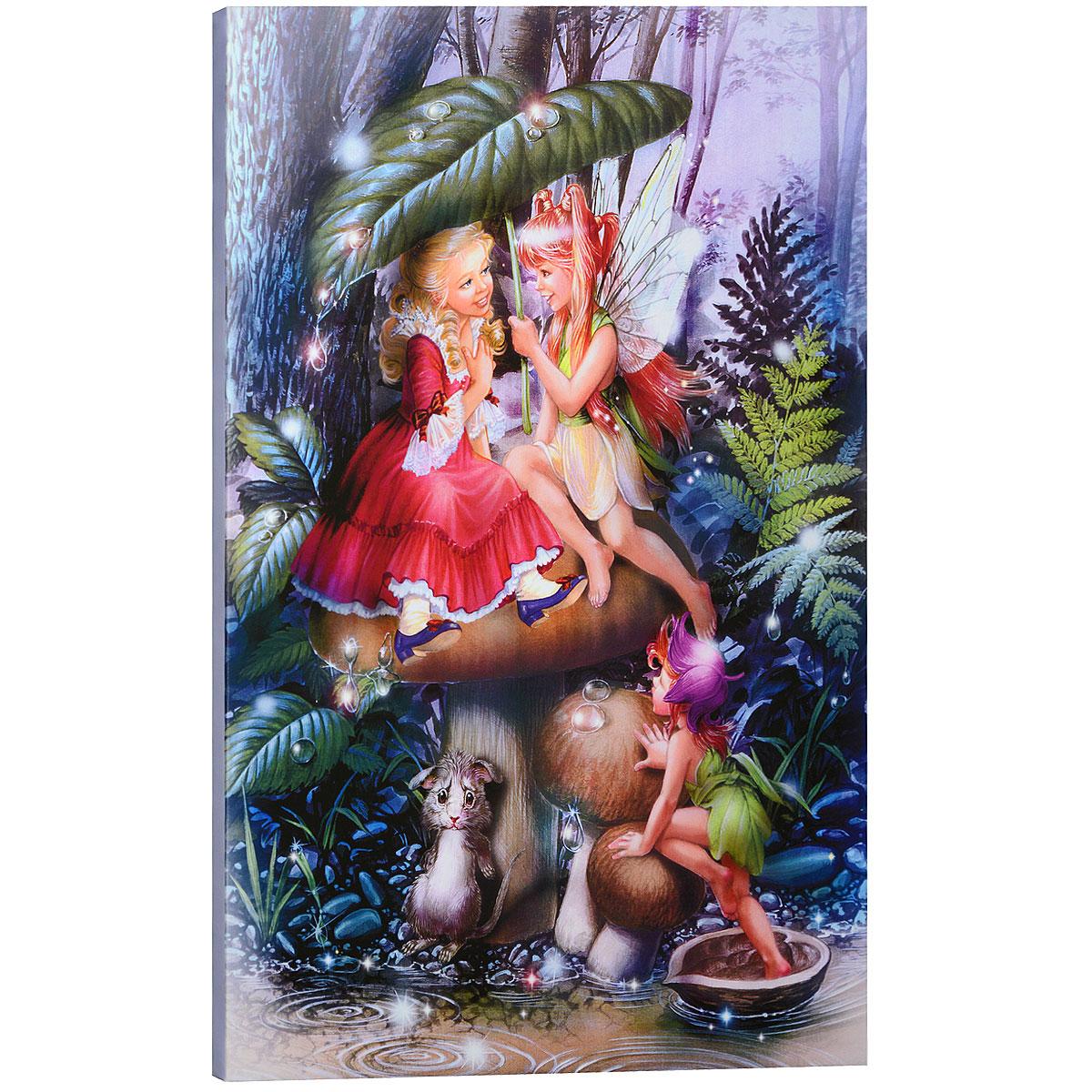"""Картина на холсте КвикДекор """"Гриб"""" автора Зорина Балдеску дополнит обстановку интерьера яркими красками и необычным оформлением. Изделие представляет собой картину с латексной печатью на натуральном хлопчатобумажном холсте. Галерейная натяжка холста на подрамники выполнена очень аккуратно, а боковые части картины запечатаны тоновой заливкой. Обратная сторона подрамника содержит отверстие, благодаря которому картину можно легко закрепить на стене и подкорректировать ее положение. Автор картины специализируется на создании восхитительных сказочных образов - русалок, принцесс, фей, единорогов и многих других. Сказки, иллюстрированные Зориной, - особый, волшебный и очаровательный мир, подаренный нам художницей посредством ее искусства и неисчерпаемой фантазии. Картина """"Гриб"""" отлично подойдет к интерьеру не только детской комнаты, но и гостиной. Картина поставляется в стрейч-пленке с защитными картонными уголками, упакована в гофрокоробку с термоусадкой."""