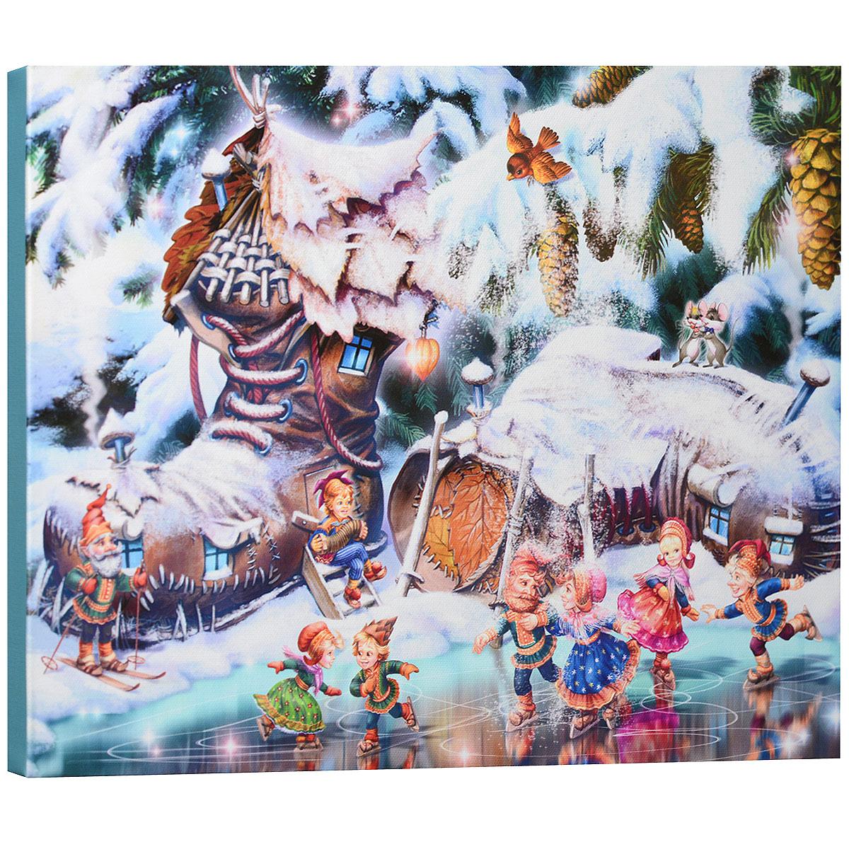 КвикДекор Картина на холсте Гномы, 40 см х 30 смRG-D31SКартина на холсте КвикДекор Гномы автора Зорина Балдеску дополнит обстановку интерьера яркими красками и необычным оформлением. Изделие представляет собой картину с латексной печатью на натуральном хлопчатобумажном холсте. Галерейная натяжка холста на подрамники выполнена очень аккуратно, а боковые части картины запечатаны тоновой заливкой. Обратная сторона подрамника содержит отверстие, благодаря которому картину можно легко закрепить на стене и подкорректировать ее положение.Автор картины специализируется на создании восхитительных сказочных образов - русалок, принцесс, фей, единорогов и многих других. Сказки, иллюстрированные Зориной, - особый, волшебный и очаровательный мир, подаренный нам художницей посредством ее искусства и неисчерпаемой фантазии.Картина Гномы отлично подойдет к интерьеру не только детской комнаты, но и гостиной.Картина поставляется в стрейч-пленке с защитными картонными уголками, упакована в гофрокоробку с термоусадкой.