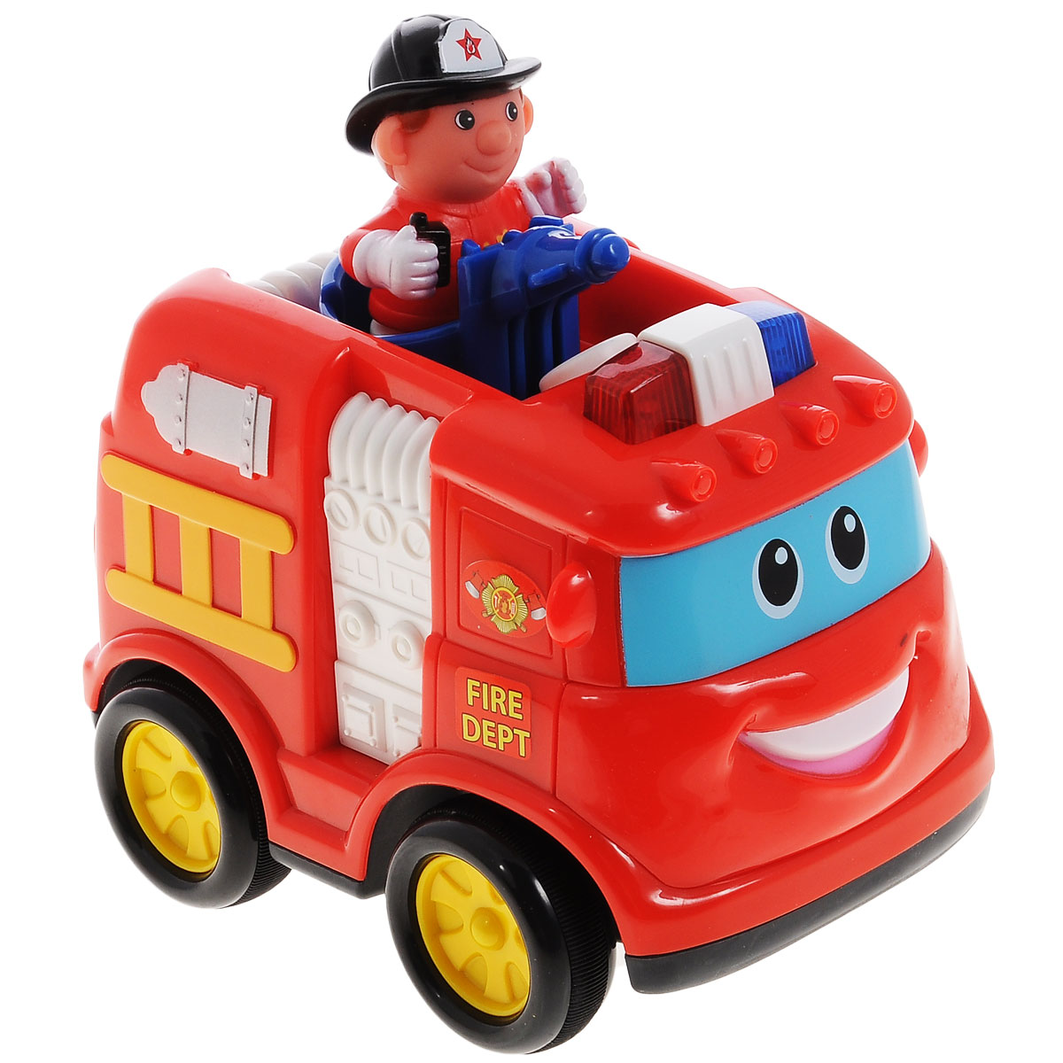 Kiddieland Развивающая игрушка Пожарная машина kiddieland развивающая игрушка забавная камера