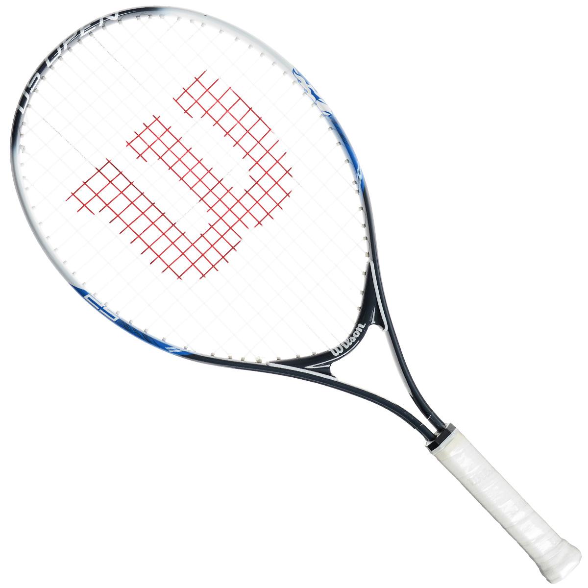 Ракетка детская Wilson US Open 25WRT30070U3Детская теннисная ракетка Wilson US Open 25 отлично подойдет для начинающих спортсменов возрастом 9-10 лет. Титановый сплав обеспечивает изделию дополнительную прочность. Ракетка имеет небольшой вес для более удобного замаха.