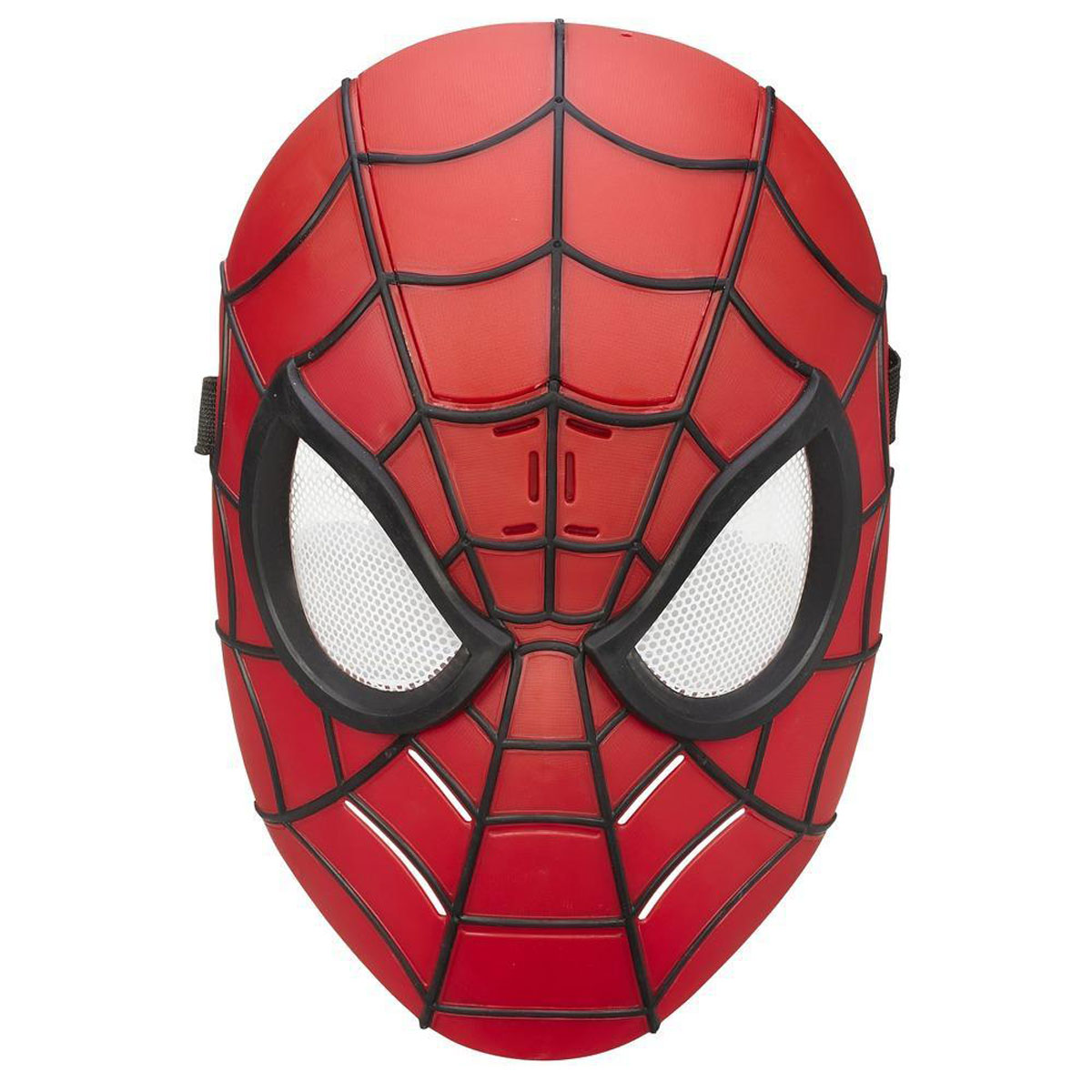 """У вашего ребенка намечается детский утренник, бал-маскарад или карнавал? Озвученная маска Spider-man """"Человек-паук"""" внесет нотку задора и веселья в праздник и станет завершающим штрихом в создании праздничного образа. Маска имеет прорези для глаз с сетчатыми пластиковыми вставками и держится на голове при помощи эластичных ремешков на липучке. Человек-паук - супергерой, получивший суперсилу, увеличенную ловкость, """"паучье чутье"""", а также способность держаться на отвесных поверхностях и выпускать паутину из рук. Теперь он готов наказать злодеев, которые покушаются на покой его родного города! Перевоплотитесь в своего любимого супергероя с этой маской! Рекомендуется докупить 2 батарейки напряжением 1,5V типа ААА (товар комплектуется демонстрационными)."""