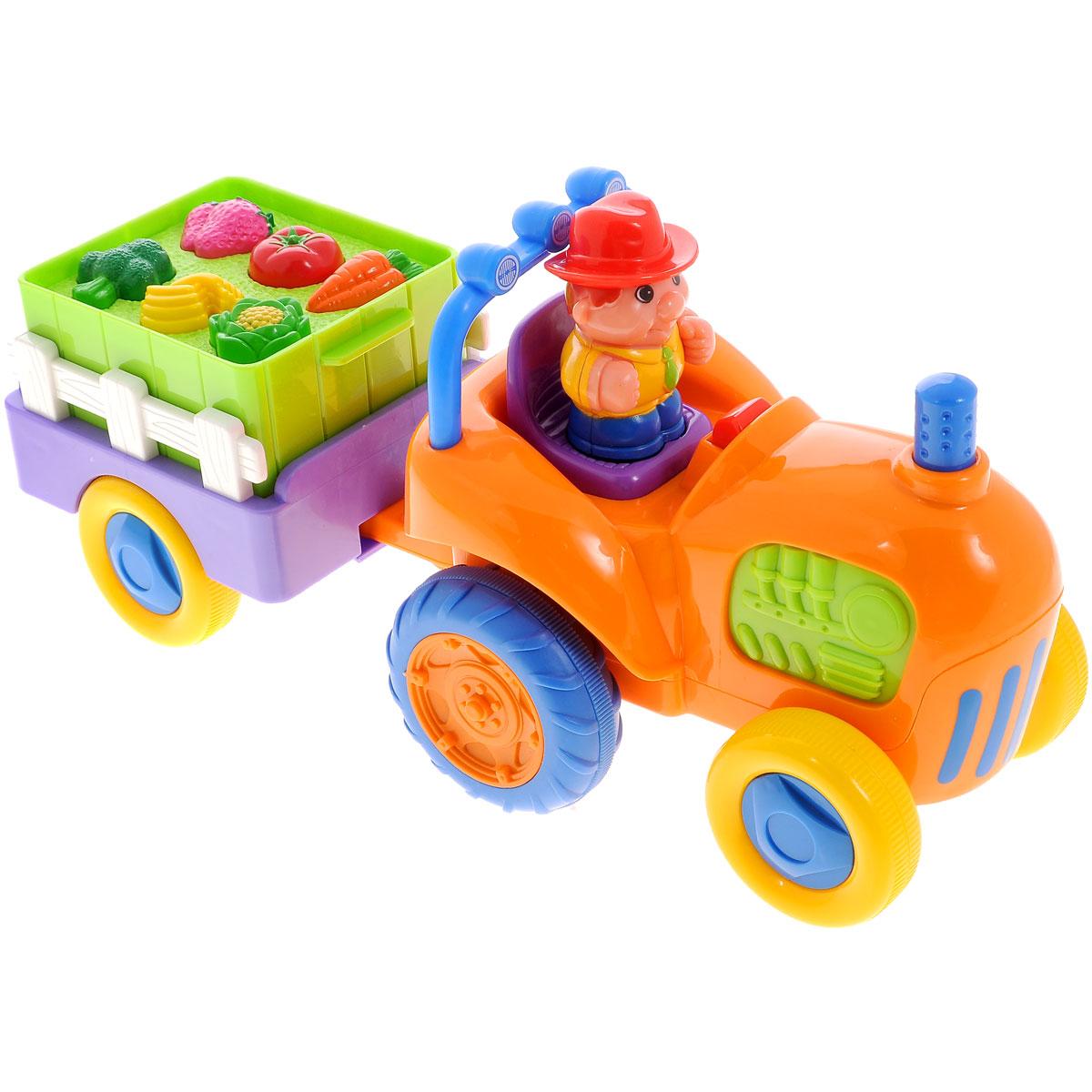 Kiddieland Развивающая игрушка Трактор с овощами куб развивающий kiddieland