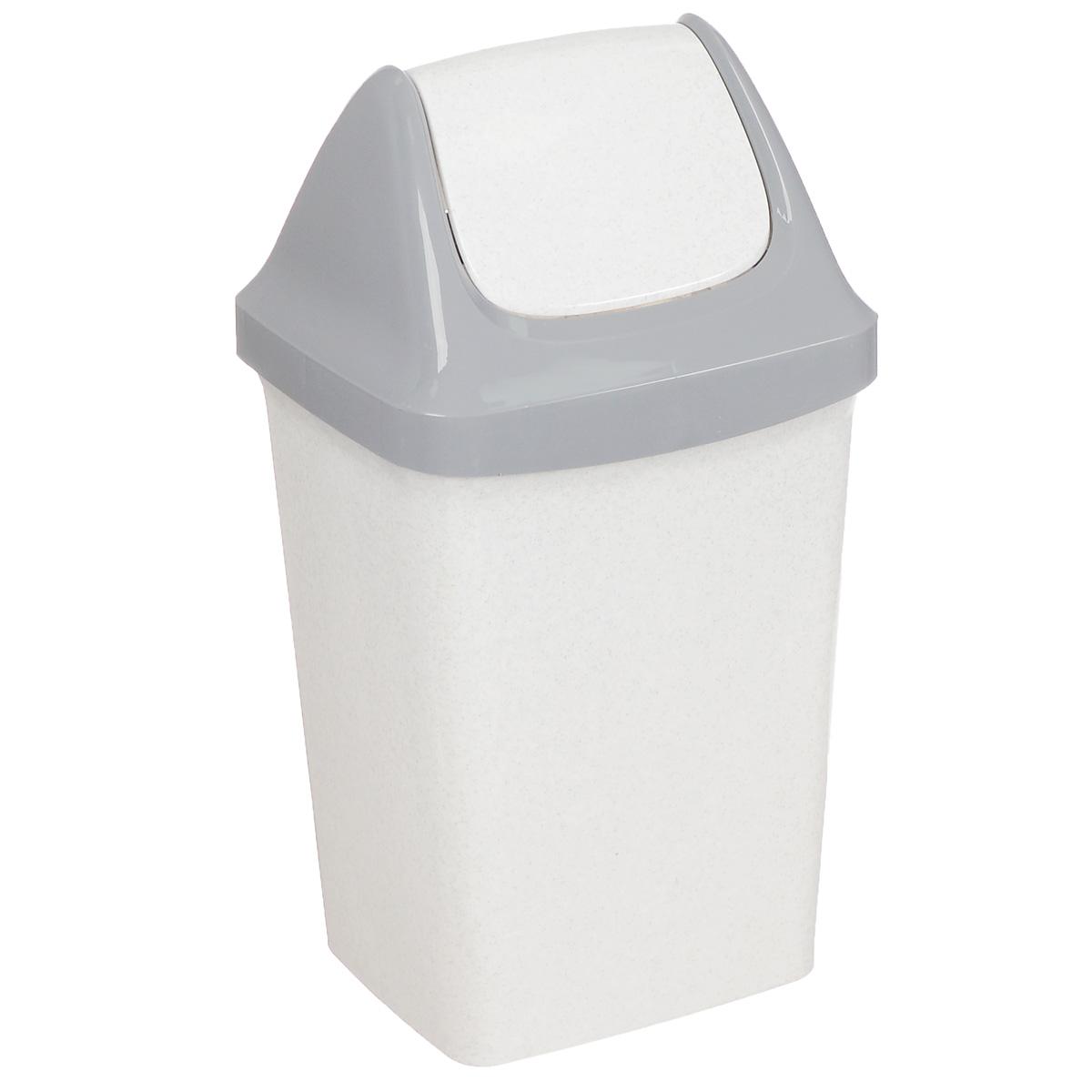 Контейнер для мусора Idea Свинг, цвет: белый мрамор, 25 лBL505Контейнер для мусора Idea Свинг изготовлен из прочного полипропилена (пластика). Контейнер снабжен удобной съемной крышкой с подвижной перегородкой. Благодаря лаконичному дизайну такой контейнер идеально впишется в интерьер и дома, и офиса.