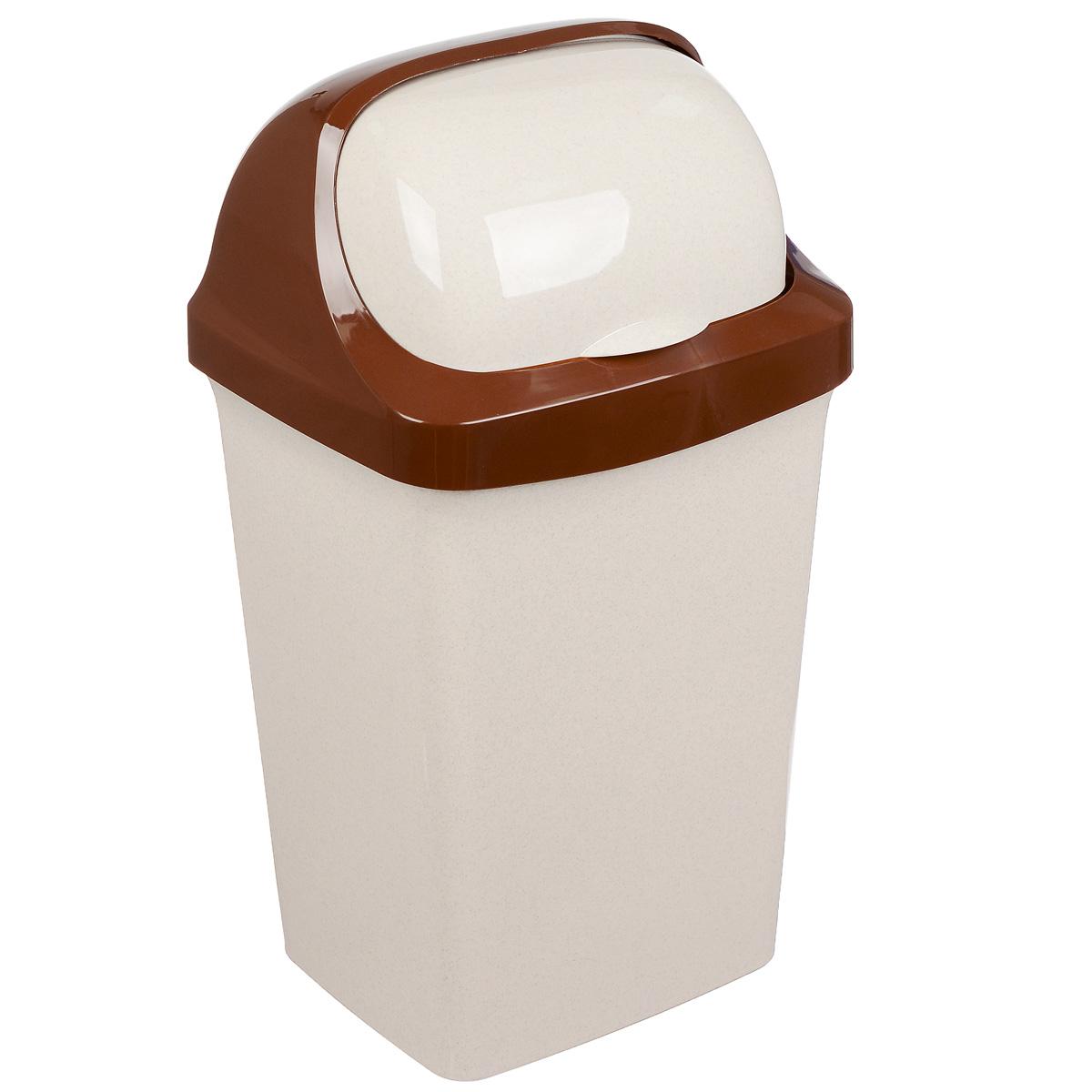 Контейнер для мусора Idea Ролл Топ, цвет: бежевый мрамор, 25 л68/5/4Контейнер для мусора Idea Ролл Топ изготовлен из прочного полипропилена (пластика). Контейнер снабжен удобной съемной крышкой с подвижной перегородкой. Благодаря лаконичному дизайну такой контейнер идеально впишется в интерьер и дома, и офиса.