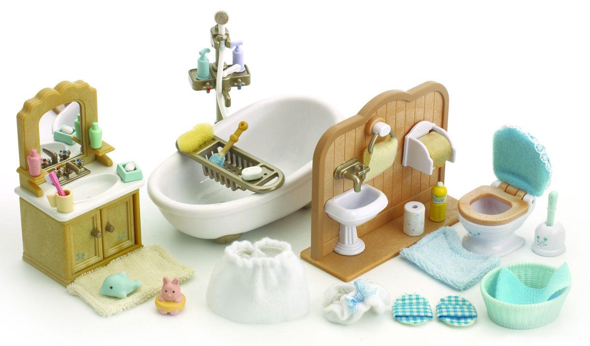 """Игровой набор """"Ванная комната"""" привлечет внимание вашего ребенка и он сможет придумывать для жителей чудесной страны Sylvanian Families свои истории. Теперь у любимых героев вашего малыша есть своя ванная комната, в которую входит раковина, шкафчик, унитаз, держатель для туалетной бумаги, полотенце, душ, ванна и другие аксессуары. Компания была основана в 1985 году, в Японии. """"Sylvanian Families"""" очень популярен в Европе и Азии, и, за долгие годы существования, компания смогла добиться больших успехов. 3 года подряд в Англии бренд """"Sylvanian Families"""" был признан """"Игрушкой Года"""". Сегодня у героев """"Sylvanian Families"""" есть собственное шоу, полнометражный мультфильм и сеть ресторанов, работающая по всей Японии. А главным событием уходящего года стала премьера мюзикла. """"Sylvanian Families"""" - это целый мир маленьких жителей, объединенных общей легендой. Жители страны """"Sylvanian Families"""" - это кролики, белки, медведи, лисы и многие другие. У каждого из них..."""