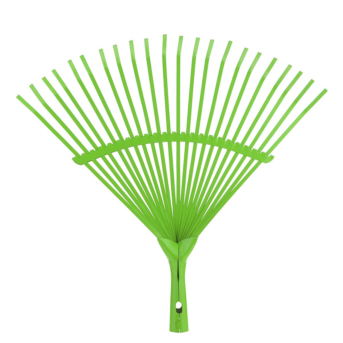 Грабли веерные Greenell, усиленные, цвет: салатовый, 22 зуба790009Веерные грабли Greenell изготовлены из металла и предназначены для работы в саду или на приусадебном участке. Такими граблями удобно сгребать листья, мусор и сорняки. Благодаря большому количеству зубцов, расположенных по принципу веера, уборка территории будет сделана в короткие сроки. Черенок в комплект не входит.