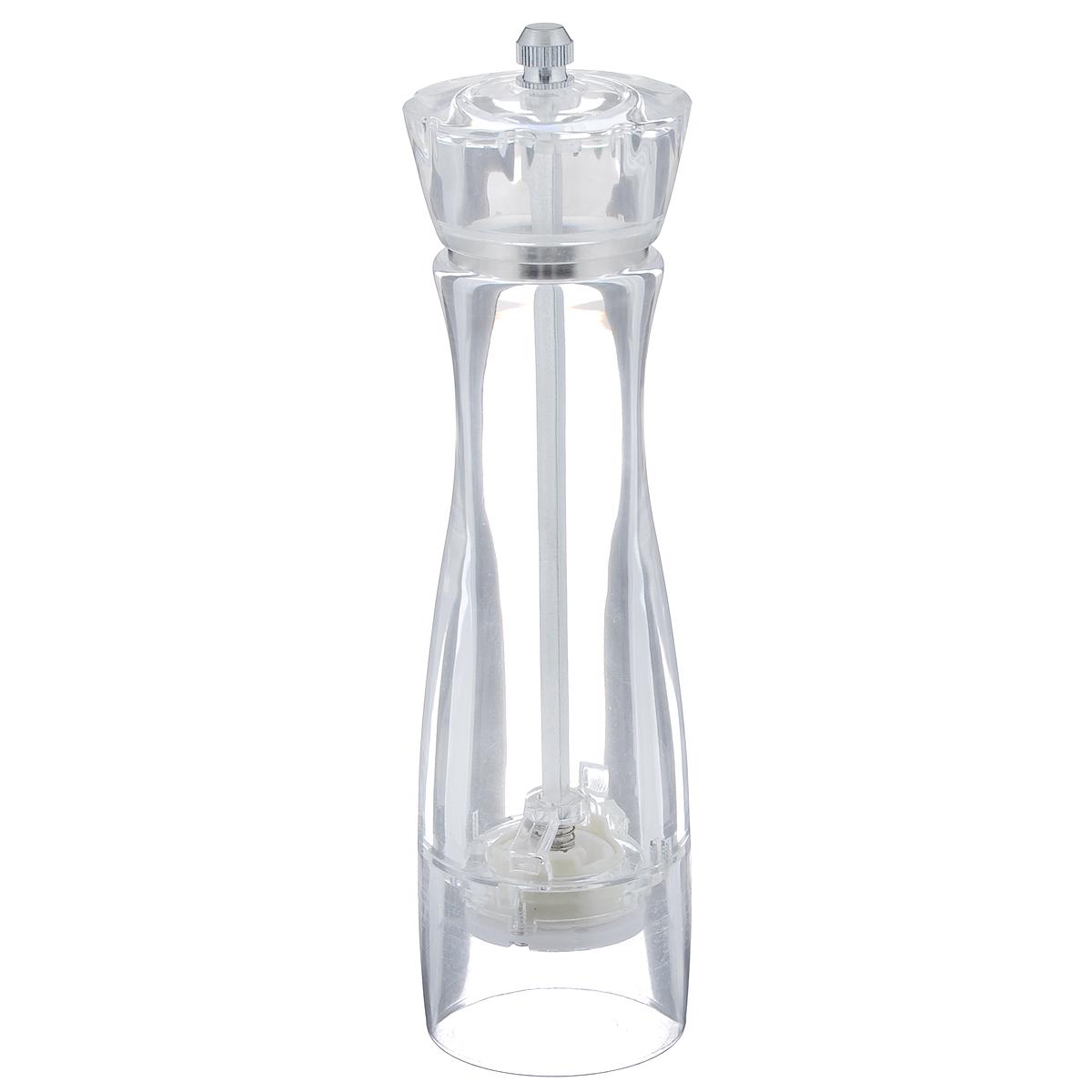 Измельчитель специй Kesper, цвет: прозрачный4630003364517Удобный механический измельчитель специй Kesper выполнен из прозрачного стекла. Насыпать специи внутрь емкости просто: достаточно отвернуть сверху болтик и снять крышку.Измельчитель специй Kesper станет достойным дополнением ваших кухонных аксессуаров.Для мытья использовать неабразивные моющие средства.