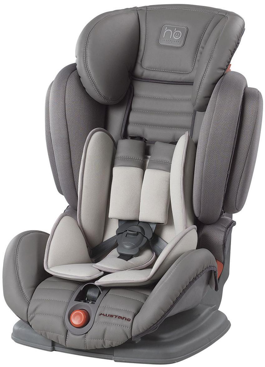 Автокресло Happy Baby Mustang гр. 1-2-3, GrayFS-80423MUSTANG — автомобильное кресло группы I-II-III (для детей от 9 до 36 кг). Регулируемые по высоте пятиточечные ремни с мягкими накладками обеспечивают безопасность и комфорт малыша. Уникальность этого автокресла в том, что оно регулируется по ширине и ребенку будет в нем комфортно в любое время года. Защита от боковых ударов с регулируемым по высоте подголовником обеспечивает дополнительную безопасность. Кресло имеет 4 угла наклона спинки, оснащено удобным механизмом регулировки. Автокресло крепится в автомобиле с помощью штатных трехточечных ремней безопасности и устанавливается лицом по ходу движения автомобиля.